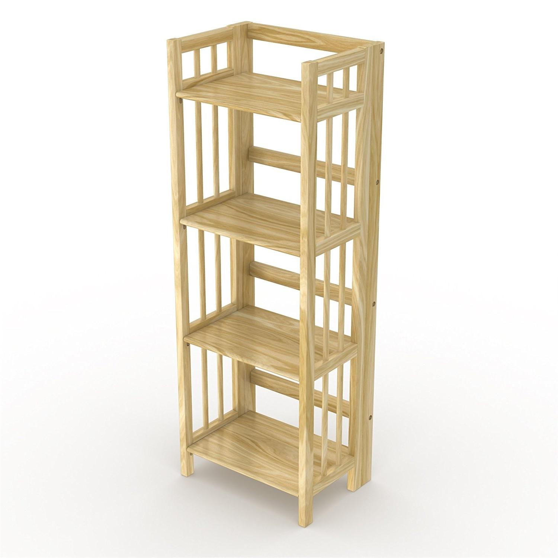 Amazon: Stony Edge Fbc 16 Na No Assembly Folding Bookcase For Latest Foldable Bookcases (View 3 of 15)