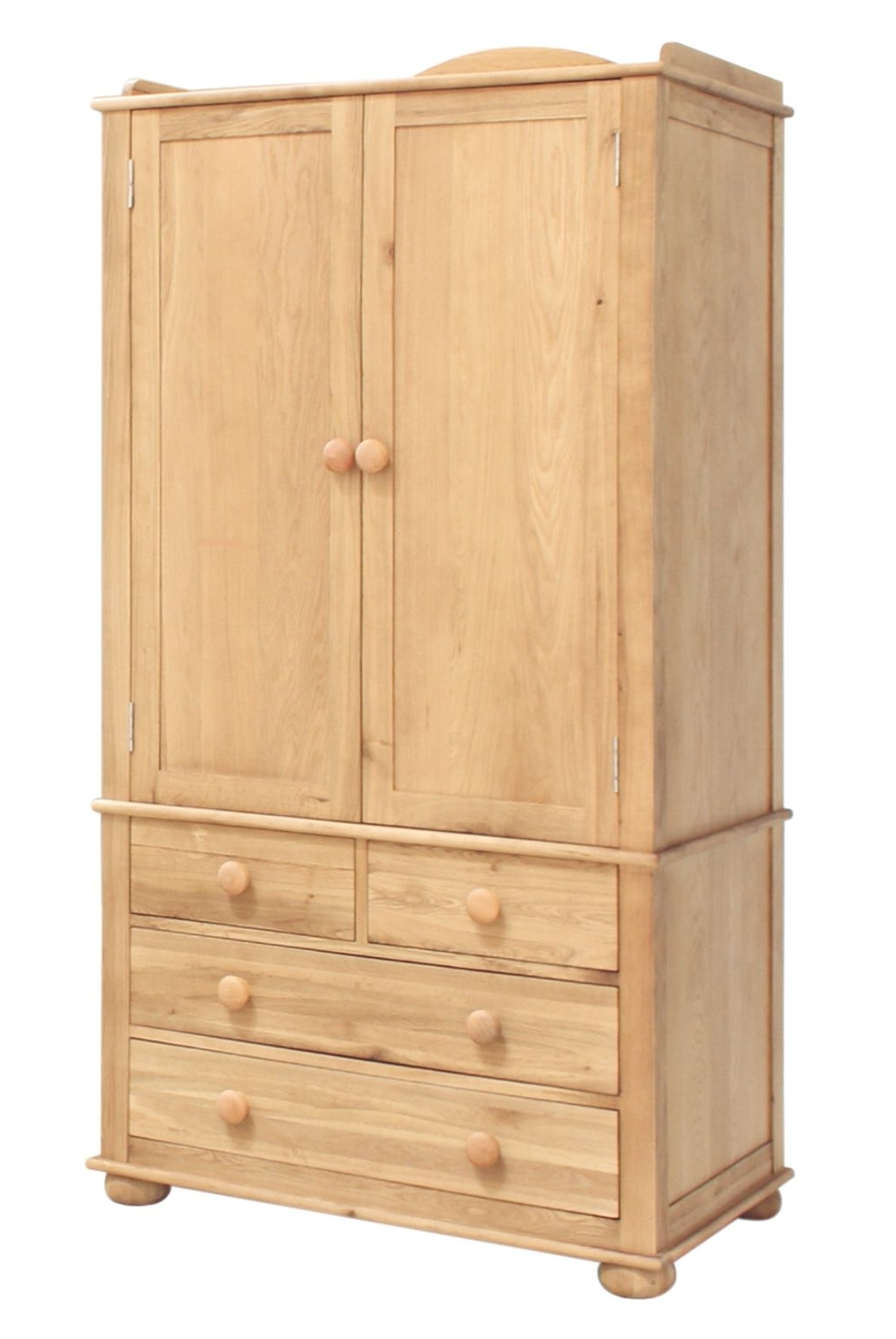 Amelie Oak Childrens Double Wardrobe Intended For Well Known Double Rail Oak Wardrobes (View 1 of 15)