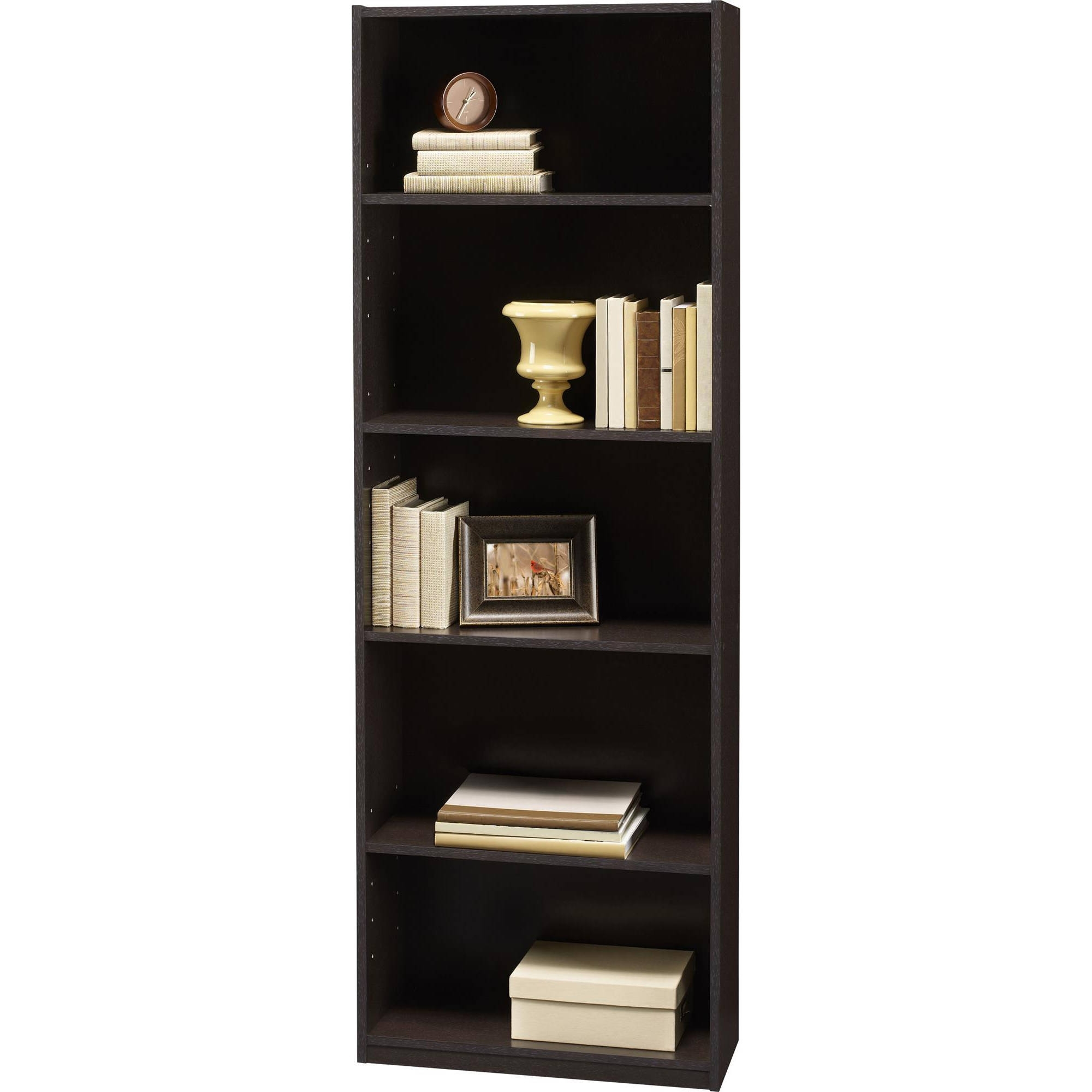 Ameriwood 3 Shelf And 5 Shelf Bookcases (mix And Match) – Walmart Pertaining To Most Popular Black Bookcases Walmart (View 6 of 15)
