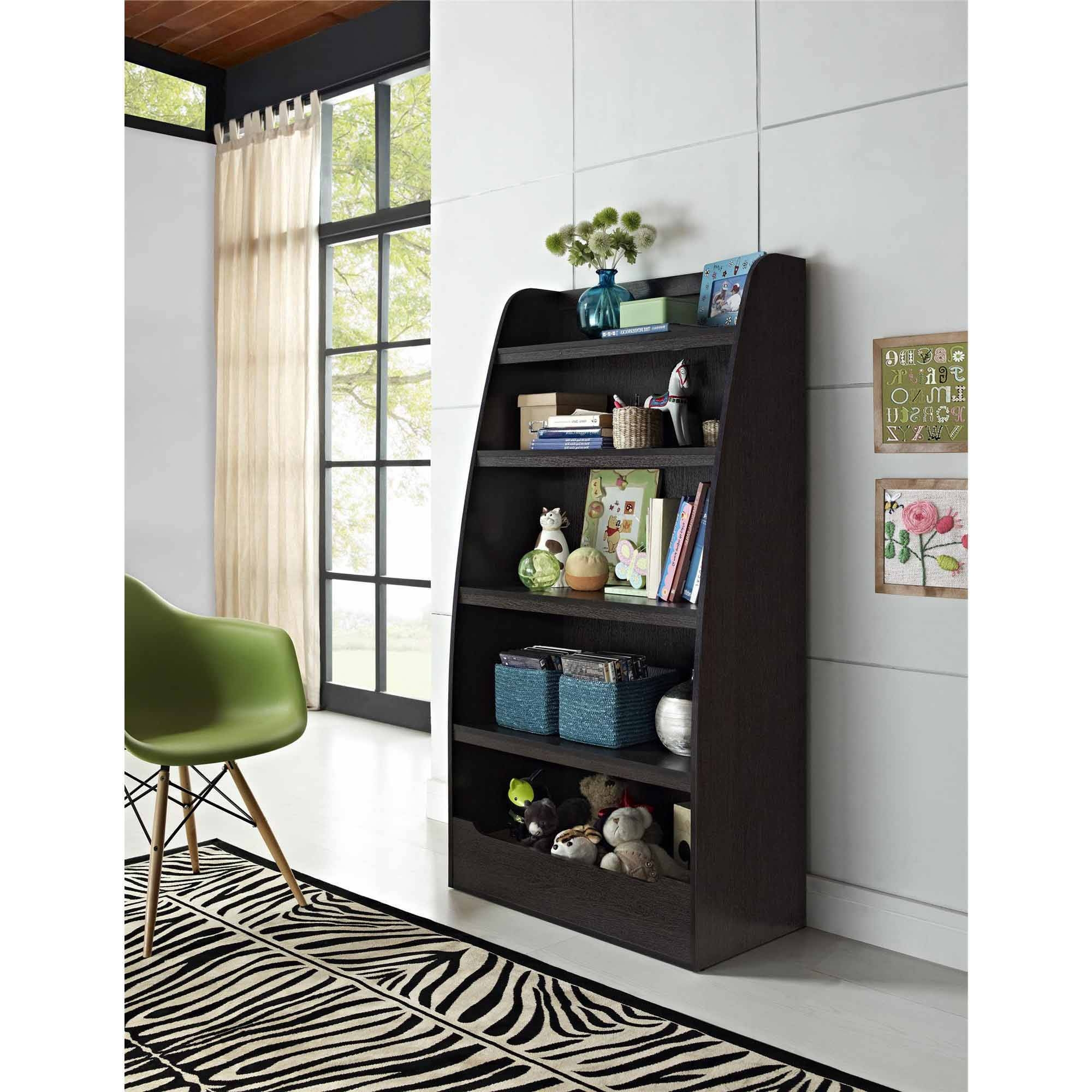 Ameriwood 3 Shelf Bookcases Regarding 2017 Ameriwood Home Mia Kids 4 Shelf Bookcase, Espresso – Walmart (View 3 of 15)