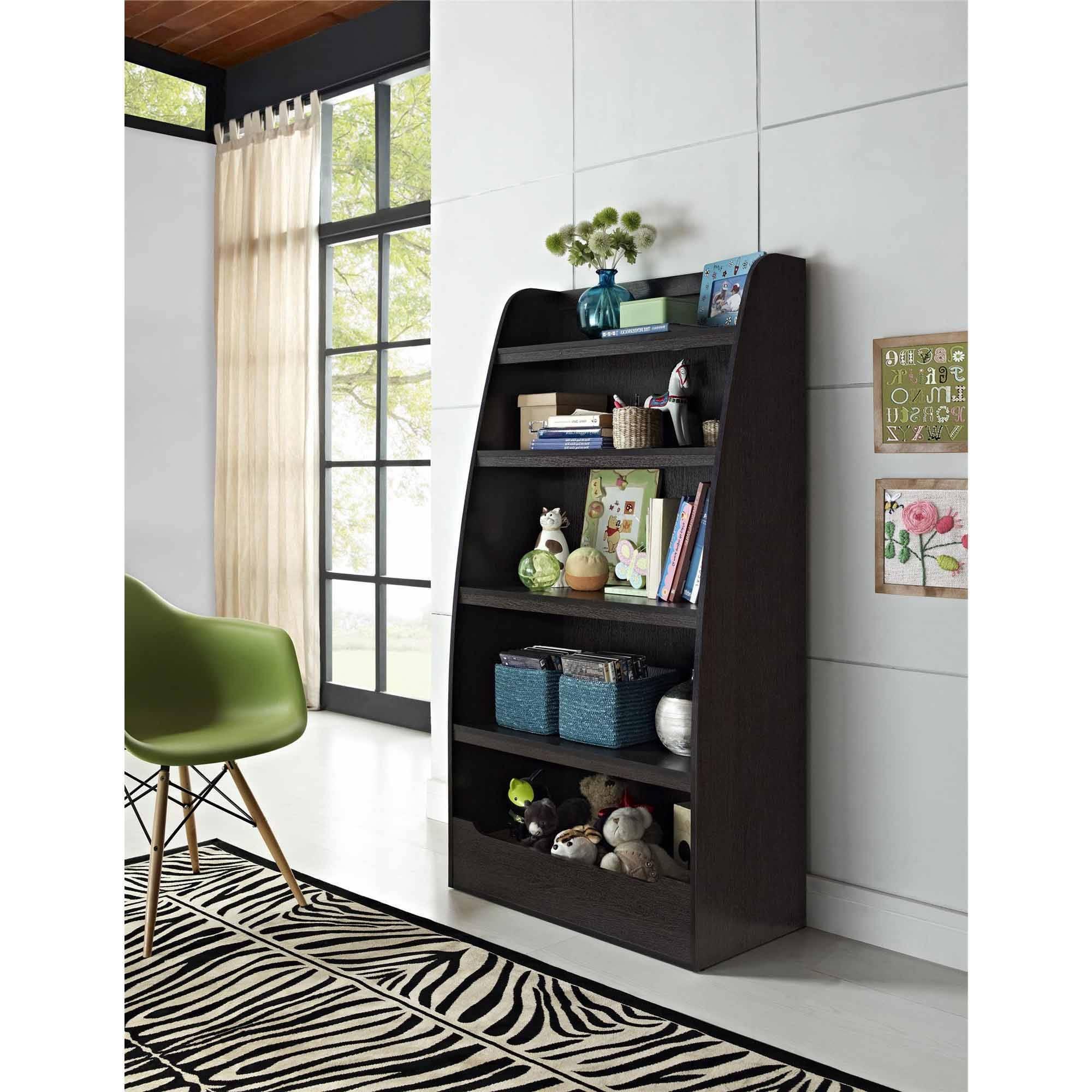 Ameriwood 3 Shelf Bookcases Regarding 2017 Ameriwood Home Mia Kids 4 Shelf Bookcase, Espresso – Walmart (View 11 of 15)