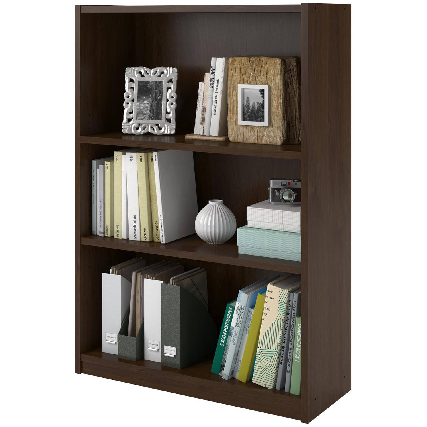 Ameriwood 3 Shelf Bookcases Throughout Trendy Product (View 6 of 15)