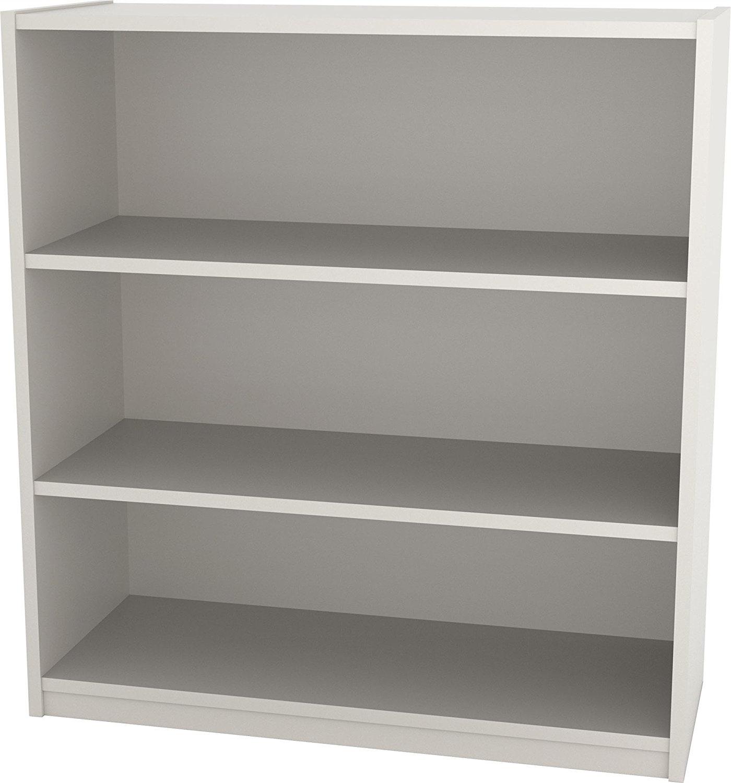 Ameriwood 3 Shelf Bookcases With 2018 Amazon: Ameriwood 5 Shelf Bookcase, White Stipple: Kitchen (View 13 of 15)