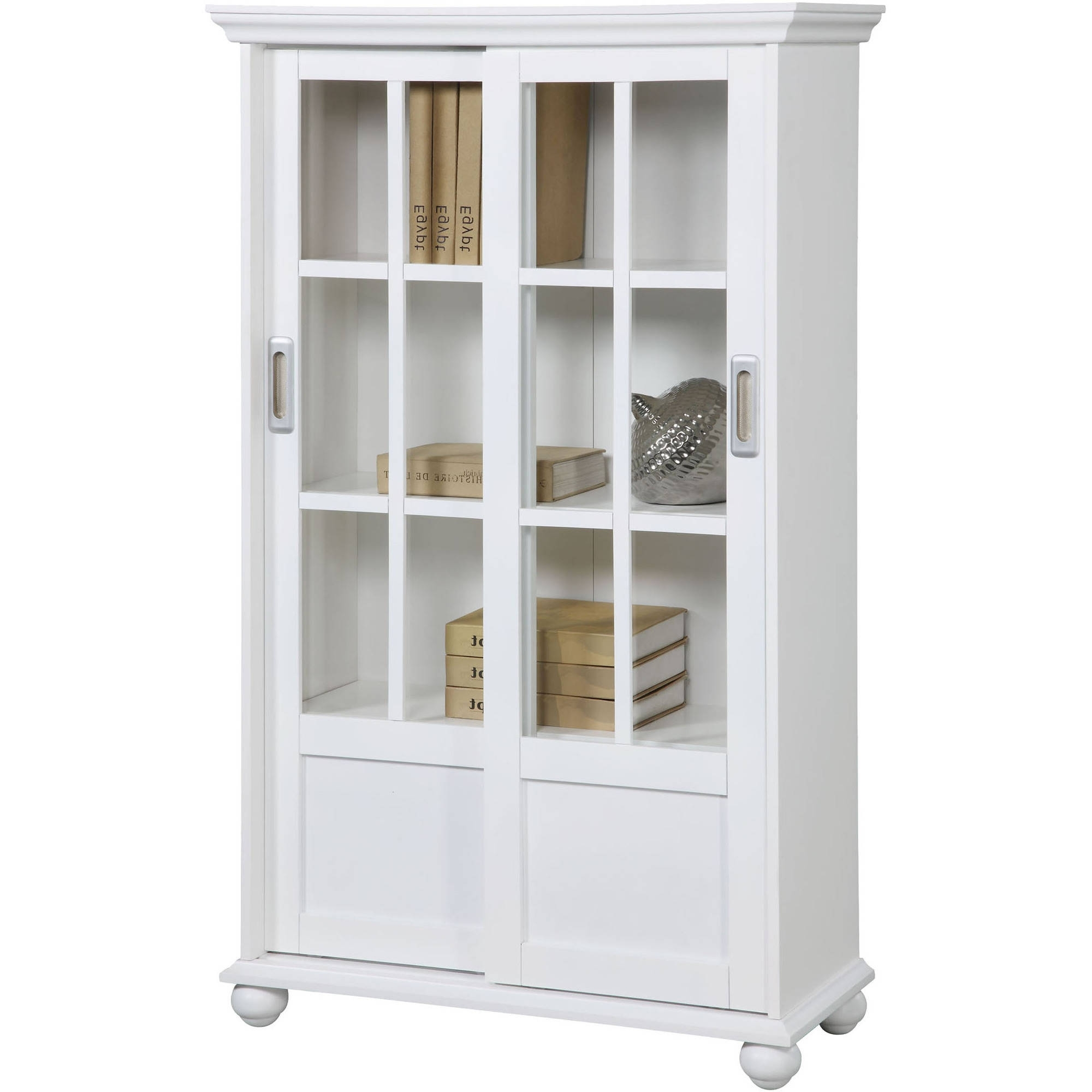 Ameriwood Home Aaron Lane Bookcase With Sliding Glass Doors Intended For Trendy Walmart Bookcases (View 2 of 15)