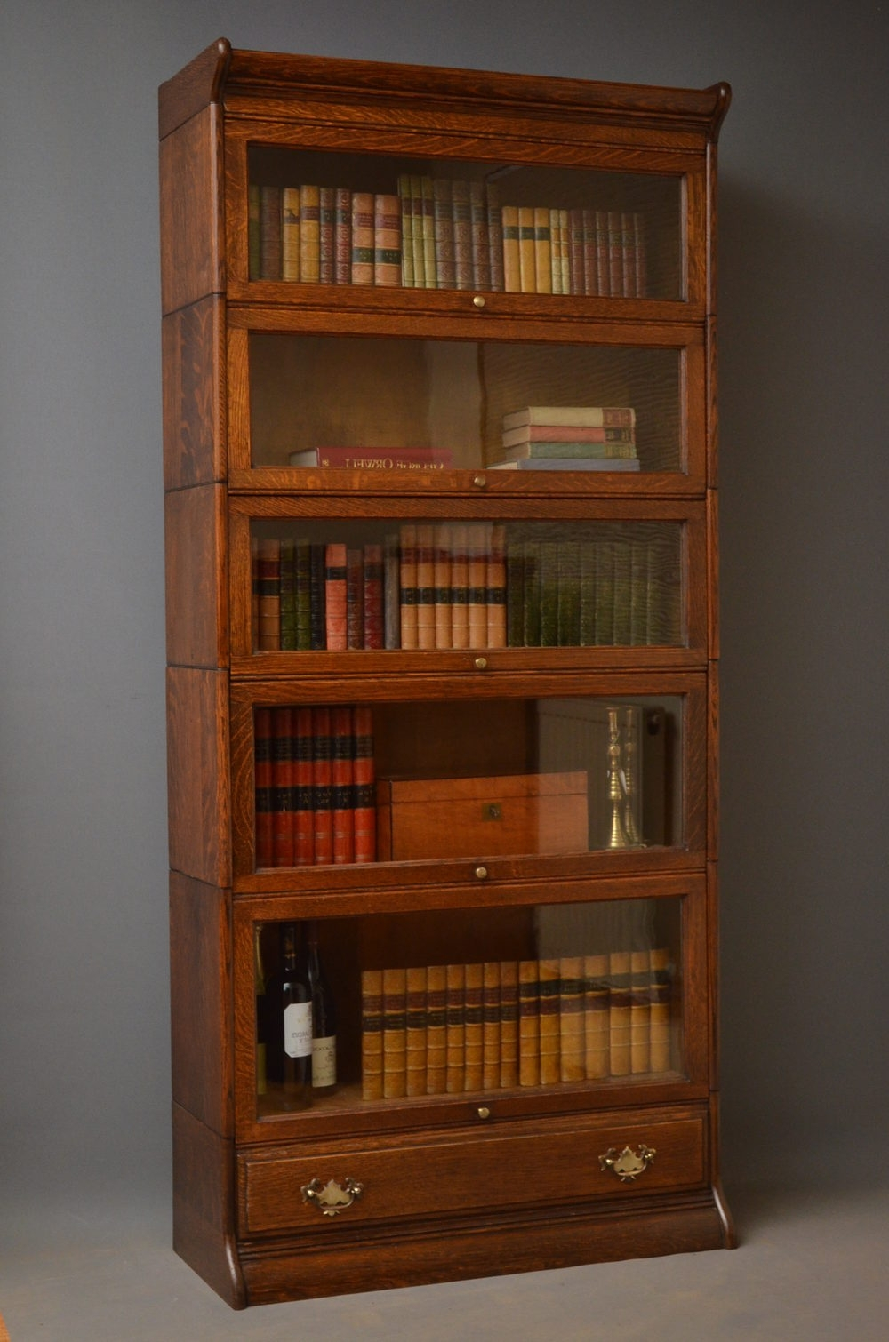 Antique Bookcase Edwardian Era – Antiques Atlas Within 2018 Vintage Bookcases (View 2 of 15)