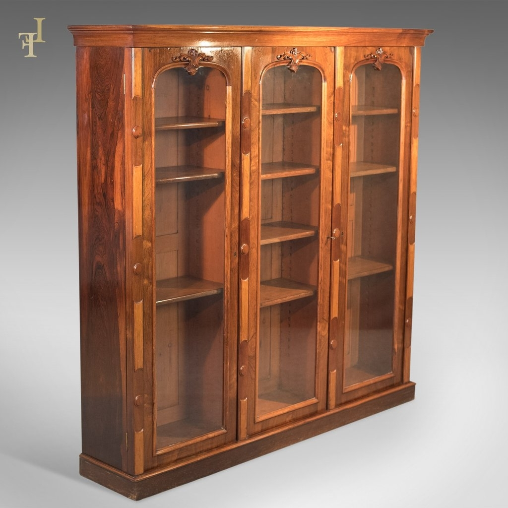 Antique Bookcase, Regency Rosewood Glazed Cabinet, C (View 2 of 15)