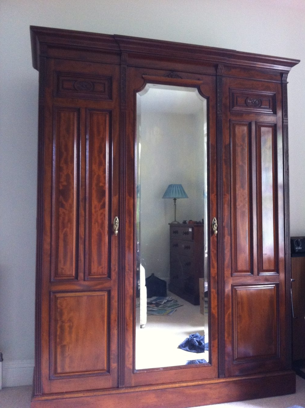 Antique Breakfront Wardrobes In Popular Antique Wardrobe – Antiques Atlas (View 5 of 15)