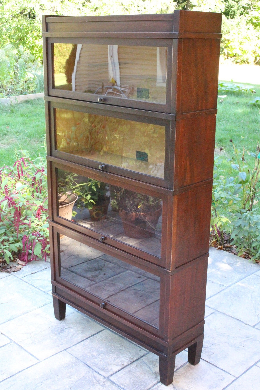 Antique Globe Wernicke 4 Stack Glass Front Sectional Barrister Regarding Current Glass Front Bookcases (View 1 of 15)