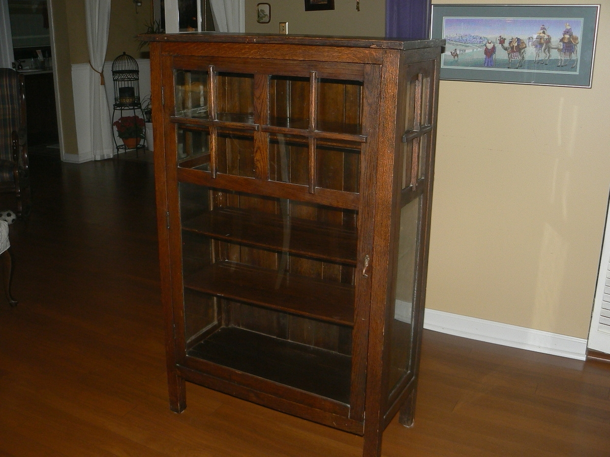 Antique Mission Single Door Cabinet/bookcase Are These Valuable With Regard To 2017 Mission Bookcases (View 2 of 15)