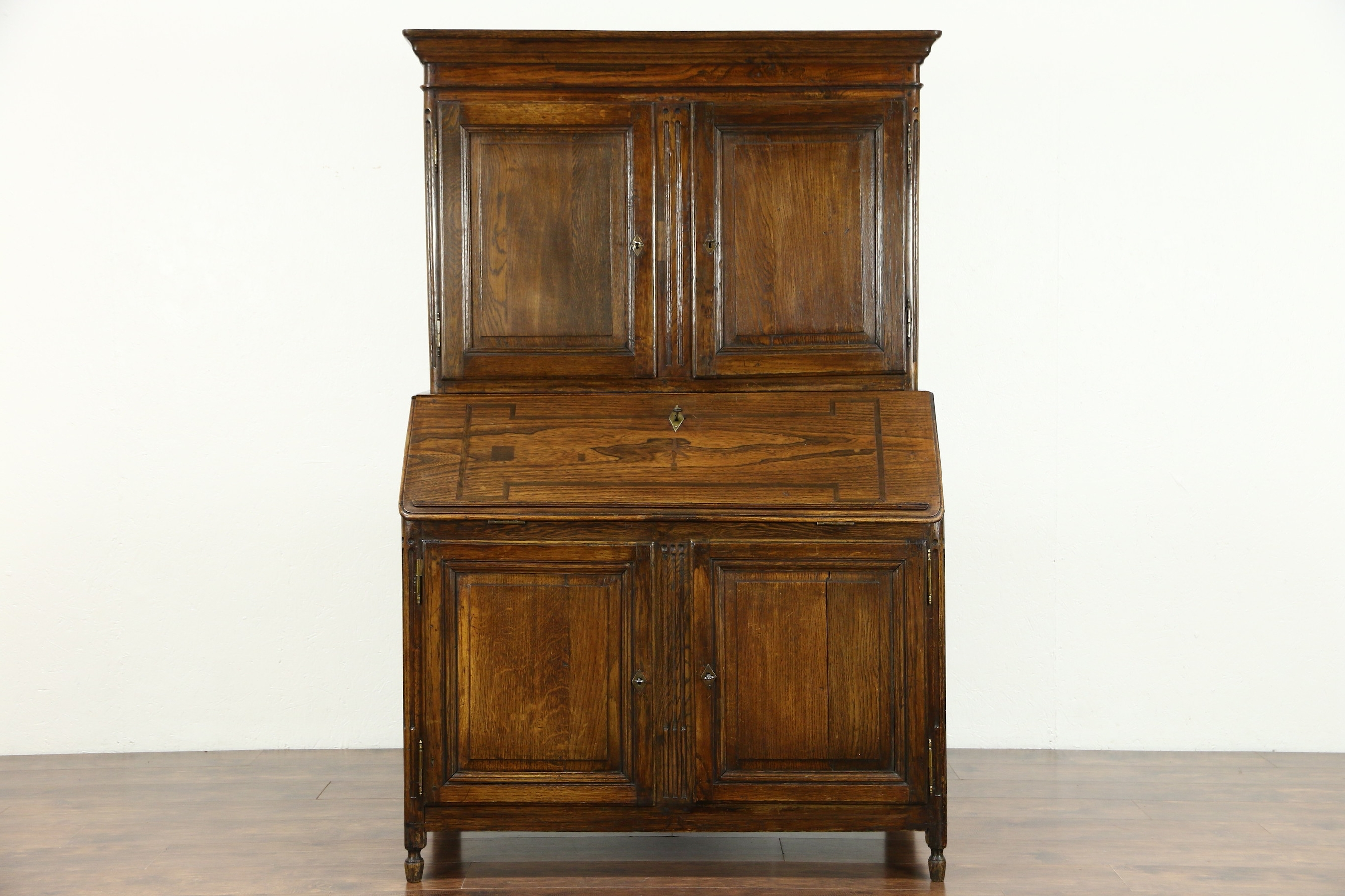 Antique Secretary Desk With Bookcases Pertaining To Latest Sold – Dutch Antique 1780 Rustic Oak Hand Crafted Secretary Desk (View 15 of 15)