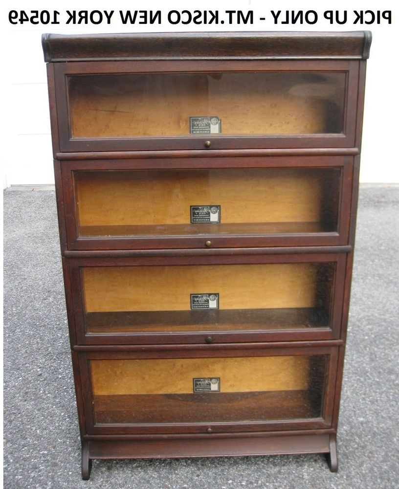 Antique Viking Oak Barrister Bookcase Book Case Stacking Section With Most Popular Lawyers Bookcases (View 15 of 15)