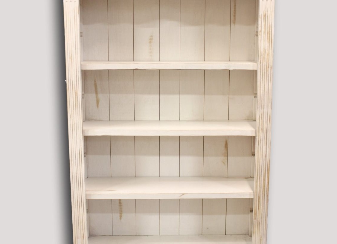 Antique White Bookcases Regarding Well Liked Shelf : Awesome Collection Of Antique White 3 Shelf Bookcase On (View 12 of 15)