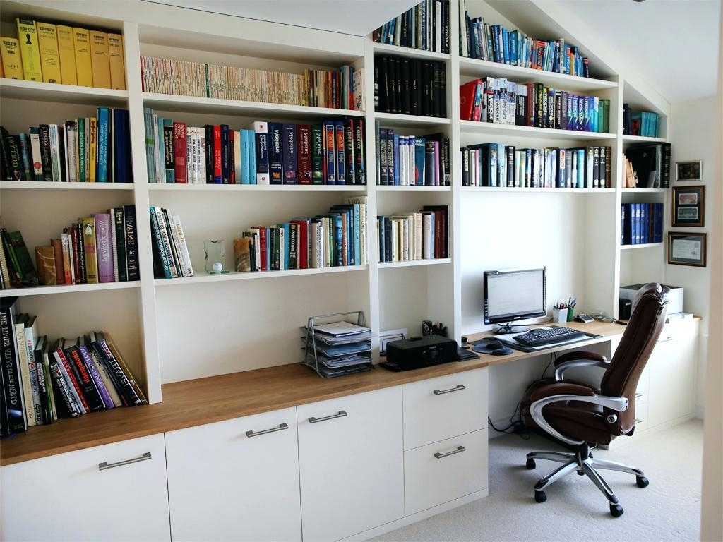Appealing Back To Bespoke Style Home Office Study Main Page With Regard To Well Known Fitted Office Furniture (View 4 of 15)
