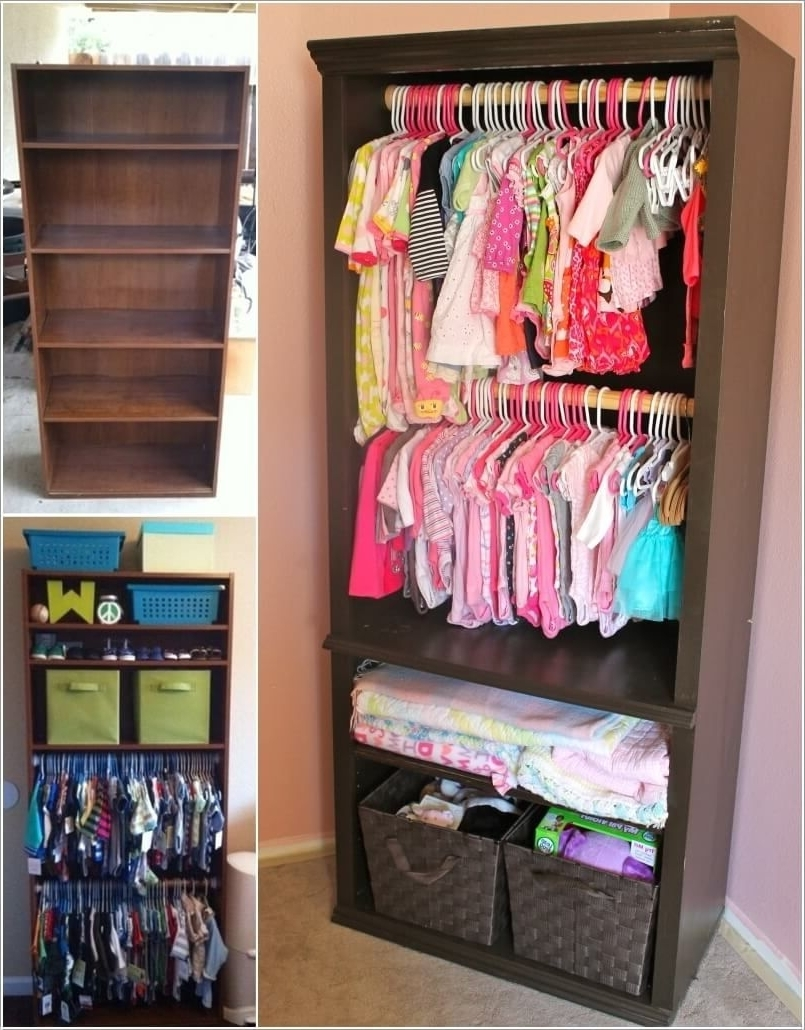 Baby Bookcases For Favorite Re Imagine An Old Bookcase Into A Baby Nursery Closet (View 9 of 15)