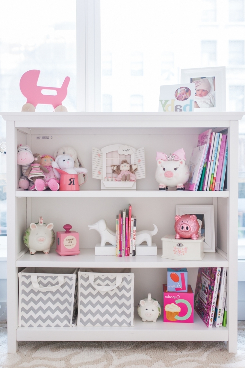 Baby Nursery Chic Home Interior Design With Nice White Shelf As With 2017 Nursery Bookcases (View 11 of 15)