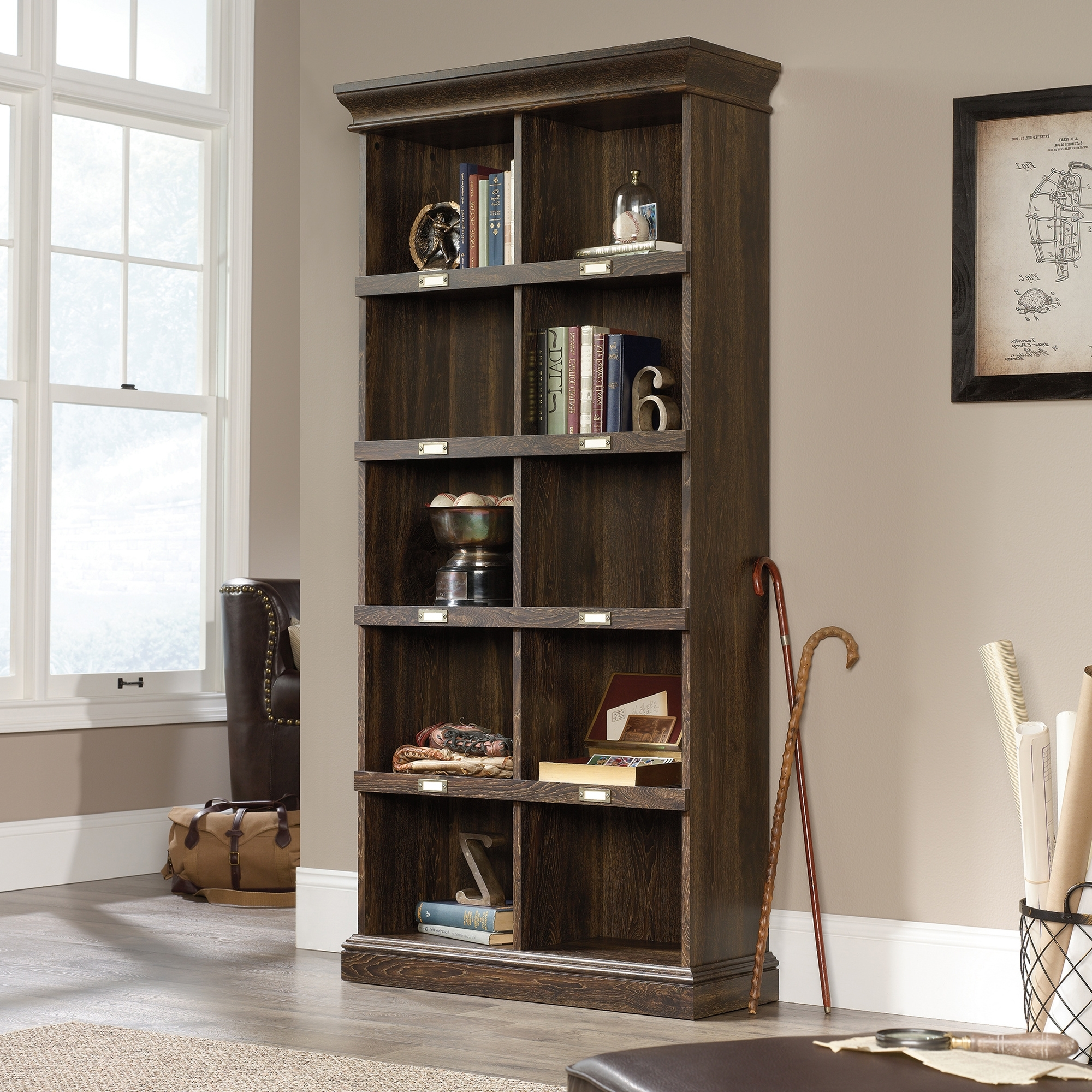 Barrister Lane Bookcases In Newest Barrister Lane Tall Bookcase (422716) – Sauder (View 5 of 15)