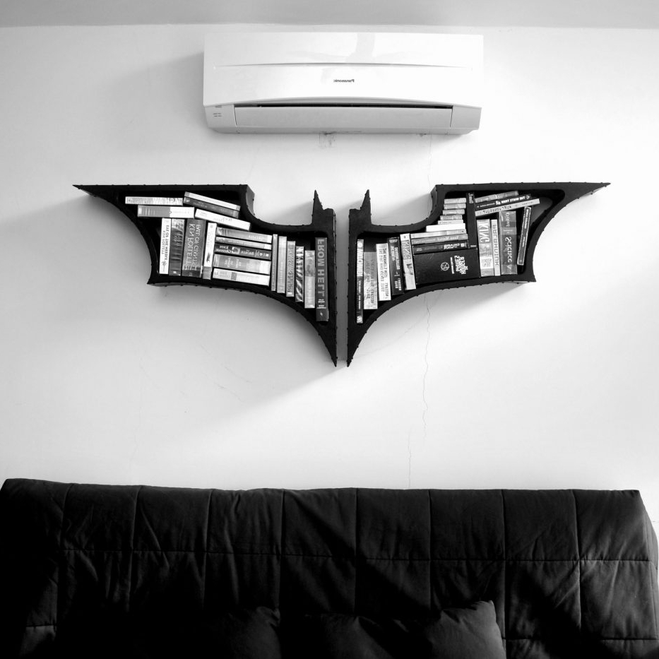 Batman Bookcases In Well Liked Batman Shelf Bracket Industrial Metal Bookshelf Dimensions Diy (View 4 of 15)