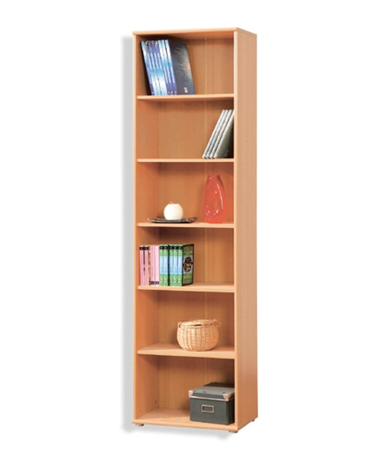 Beech Bookcases With Regard To Latest Tempra Tall Narrow Beech Bookcase Bookshelf Home Office Furniture (View 2 of 15)