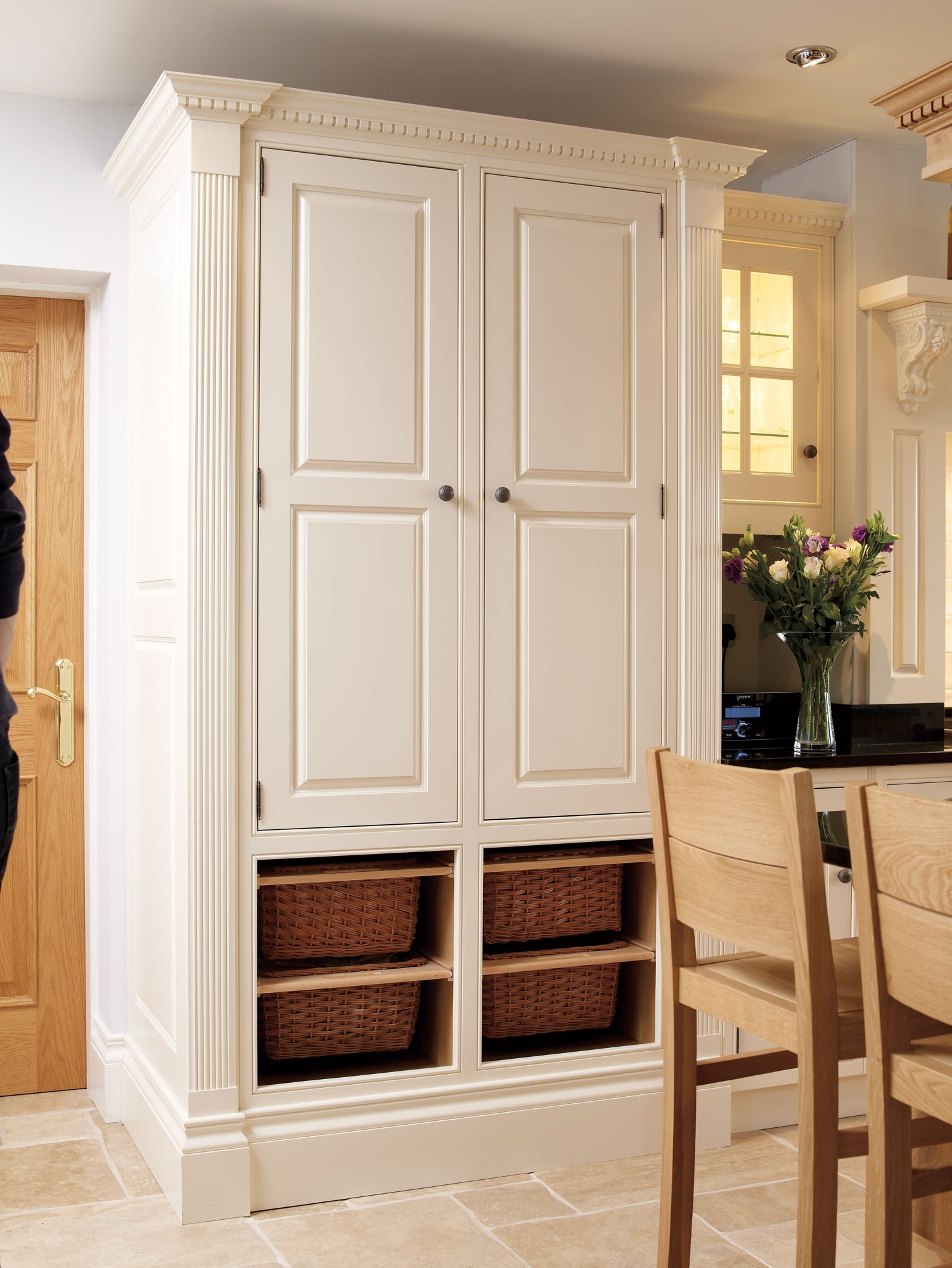 Bespoke Built In Furniture Pertaining To Fashionable Fitted Kitchen Larder – The Bespoke Furniture Company (View 4 of 15)