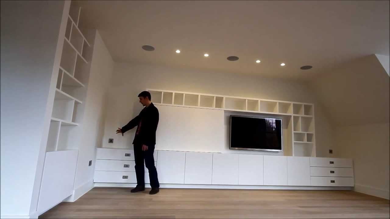 Bespoke Built In Media Tv Unit Uk – Youtube Within 2017 Bespoke Tv Stands (View 14 of 15)
