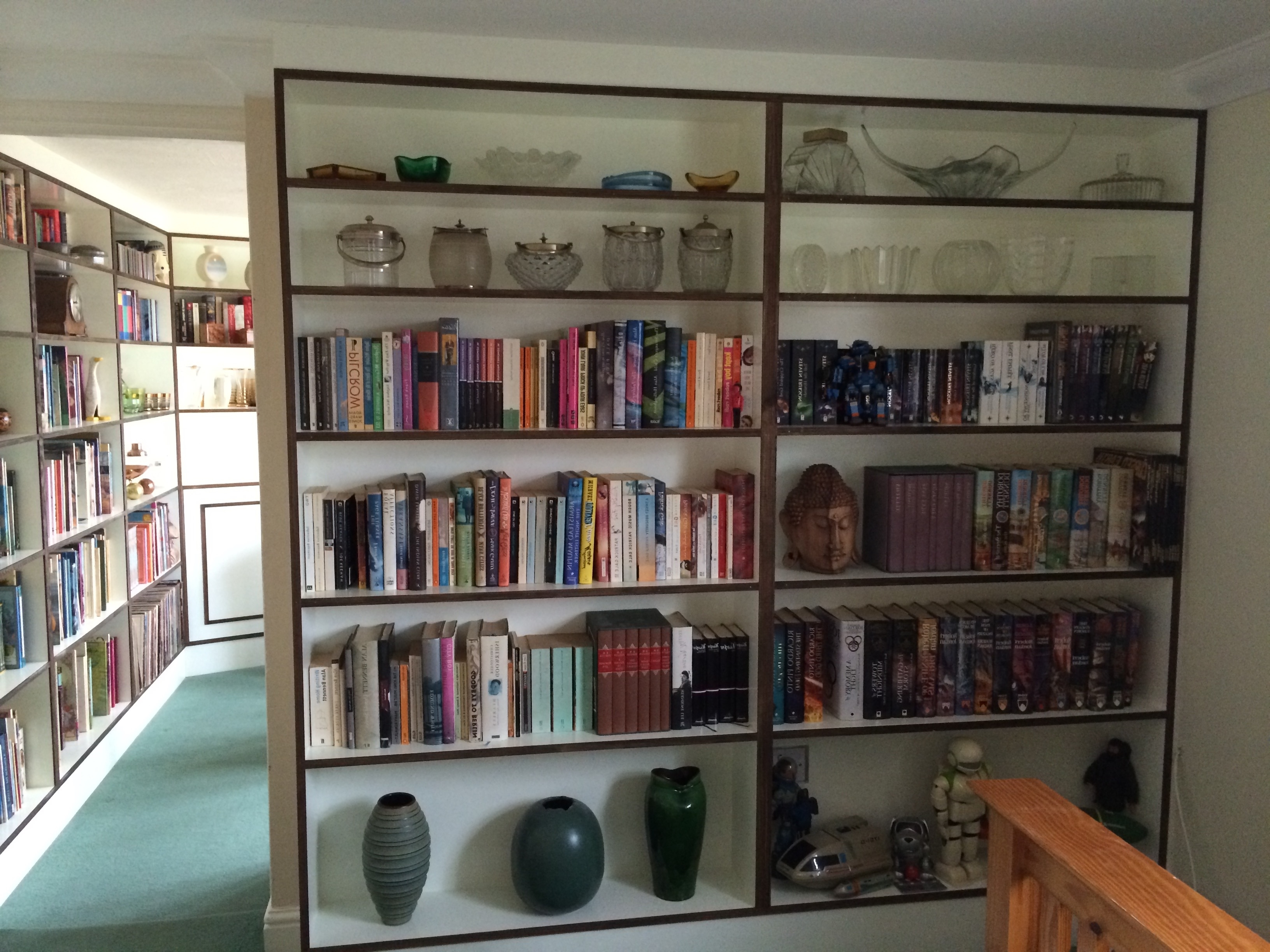 Bespoke Library Regarding Most Current Bespoke Library & Display Shelving With Wardrobe (View 5 of 15)