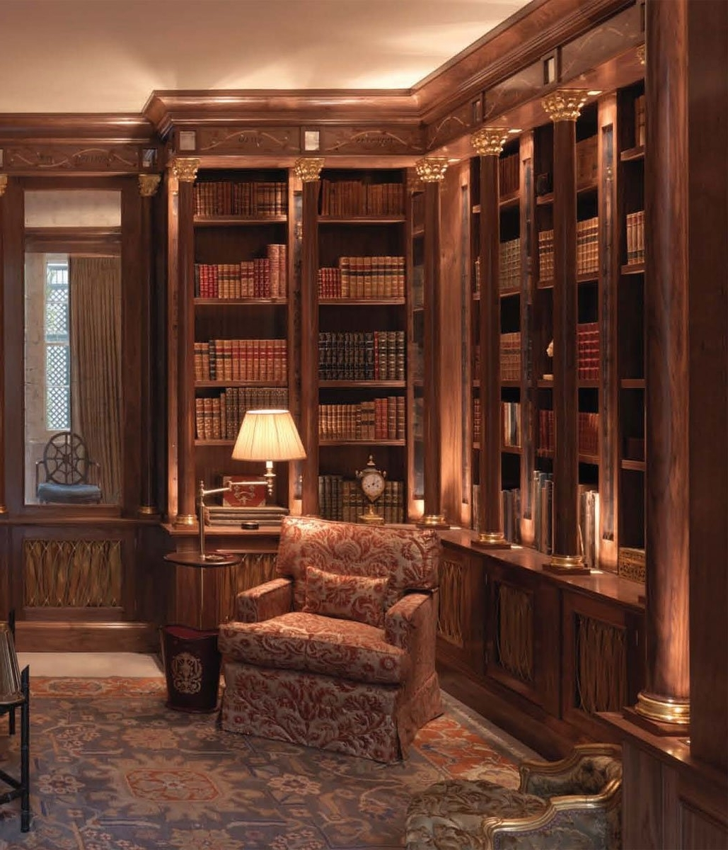 Bespoke Library Throughout Latest Tim Gosling Fitted Library In Sycamore – Luxury Bespoke Furniture (View 6 of 15)