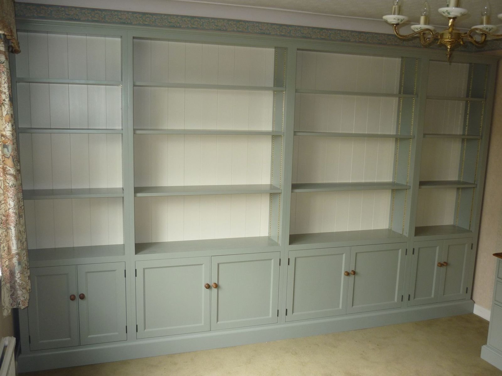 Bespoke Office Furniture With Huge Bookcase – Painted – Bookcases For Fashionable Bespoke Bookcases (View 7 of 15)