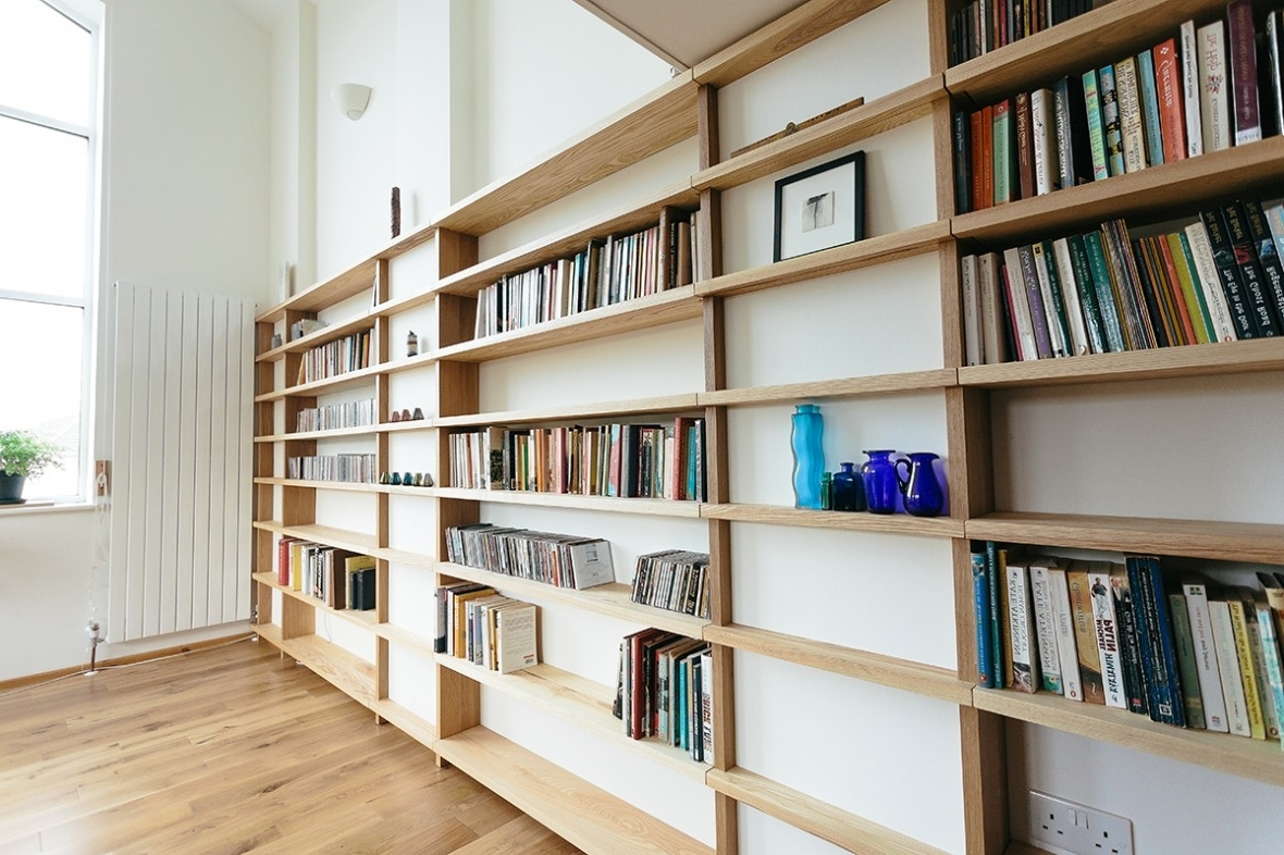 Bespoke Shelving With Well Known Oak And Ash Fitted Shelving, Truro (View 2 of 15)