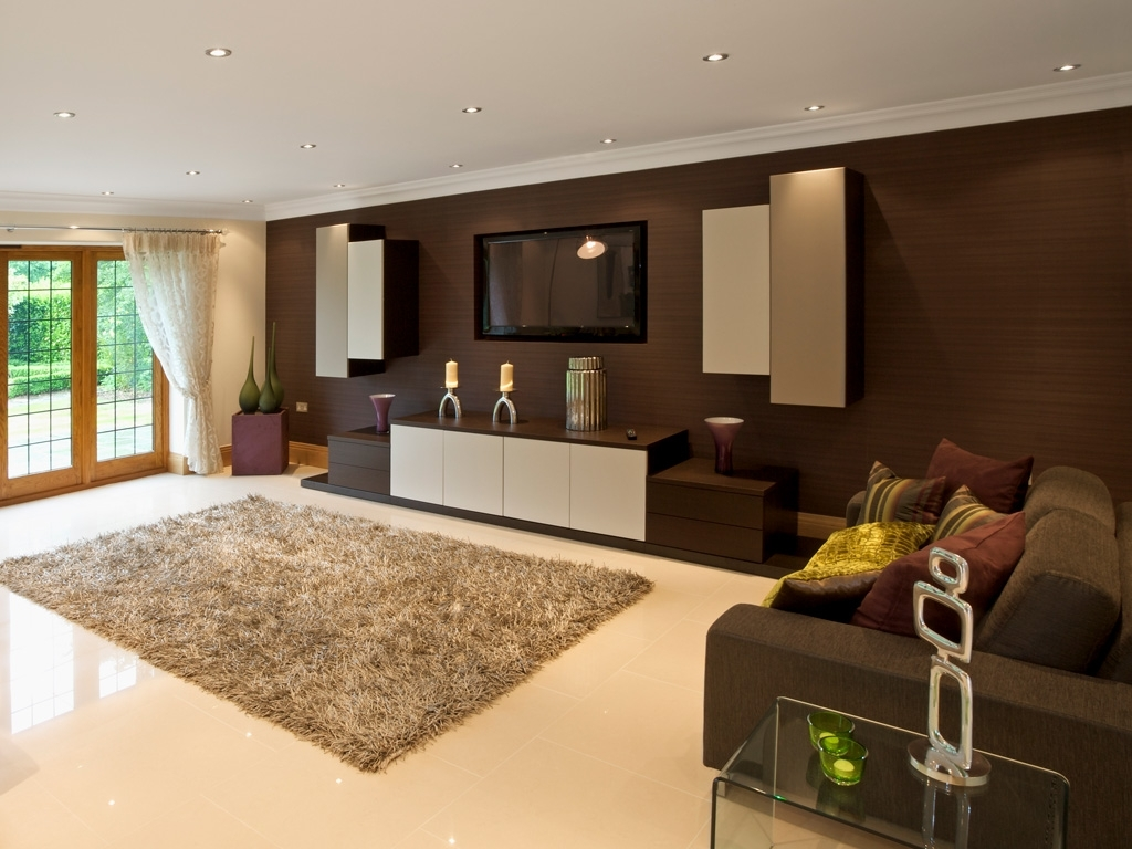 Bespoke Tv Cabinets With Famous Modern Dark Wood Built In Tv Unit (View 14 of 15)