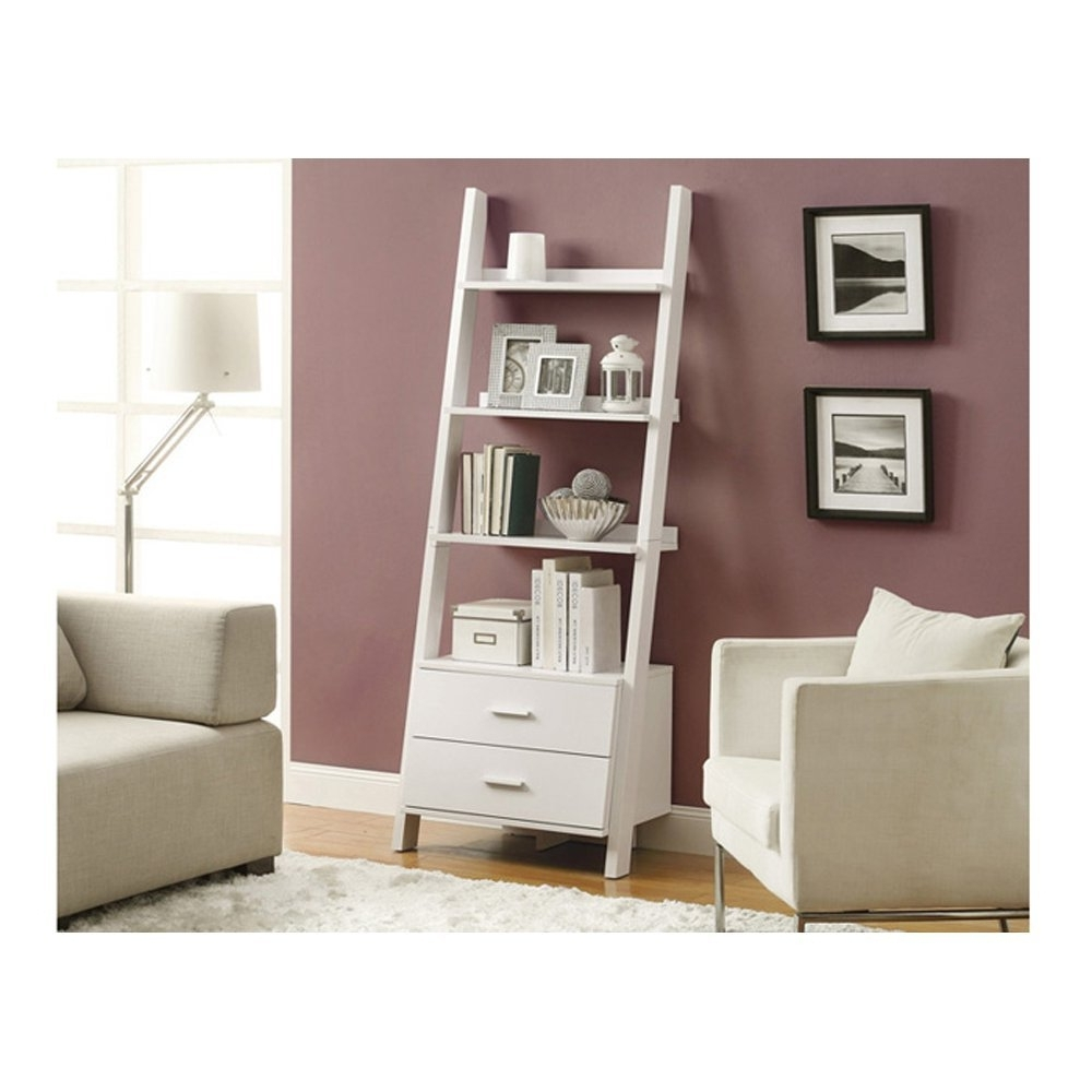 Best 22 Leaning Ladder Bookshelf And Bookcase Collection For Your Regarding Current Ladder Bookcases With Drawers (View 1 of 15)