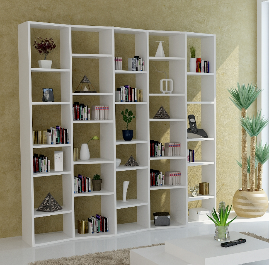 Best And Newest Admirable Huge White Shelving Unit Design With Unique Rectangular In Huge Bookcases (View 2 of 15)