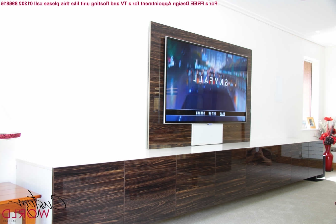 Best And Newest Bespoke Tv Stand Intended For Fitted Tv Furniture And Wall Units (View 15 of 15)