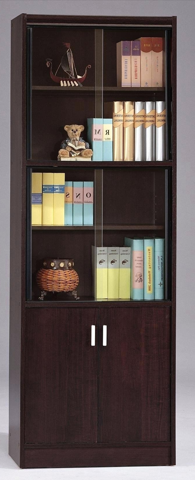 Elegant Best And Newest Bookcases With Glass Doors White Bookcase With Glass Doors  Uk Inside Lockable Bookcases