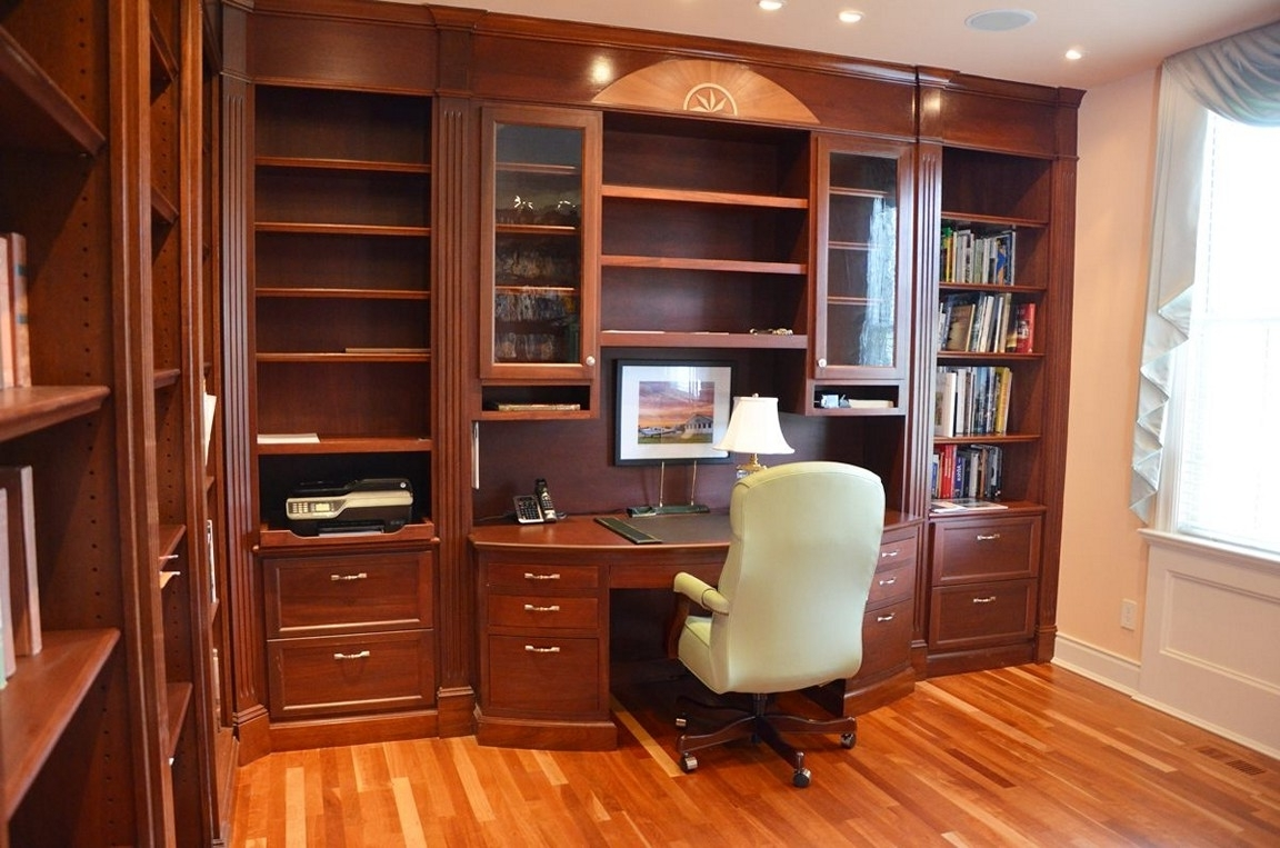 Best And Newest Built In Bookcase With Desk Pertaining To Desk With Bookcases (View 1 of 15)
