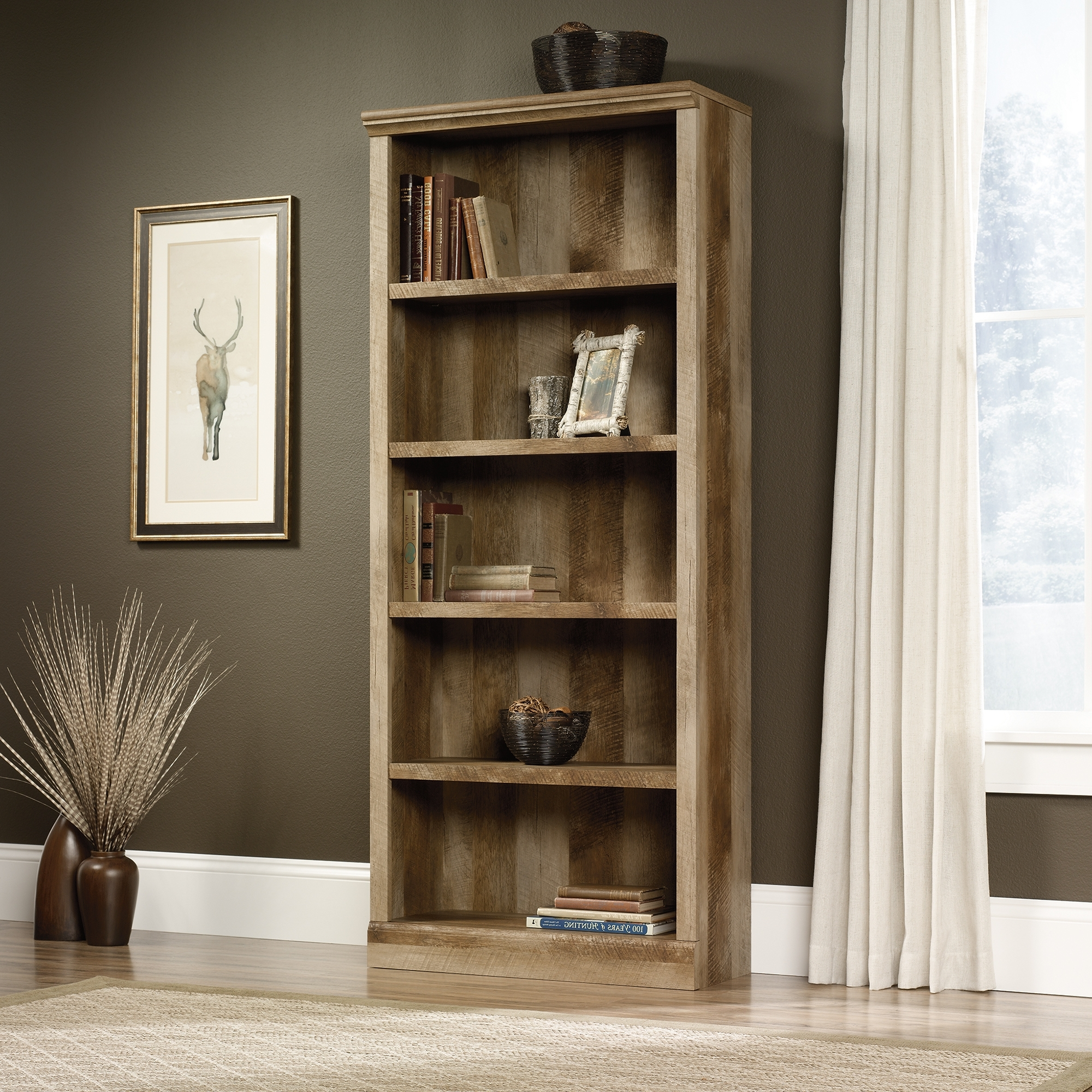Best And Newest Carson 5 Shelf Bookcases Throughout East Canyon (View 8 of 15)