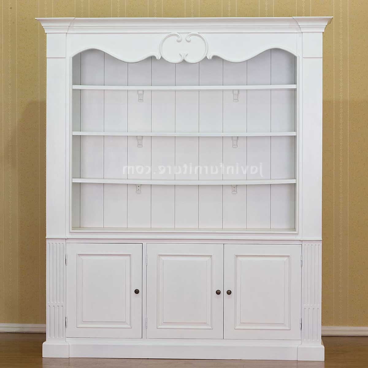 Best And Newest Cool Versatile White Bookshelf With Doors Designs – Decofurnish Intended For Bookcases With Doors On Bottom (View 2 of 15)