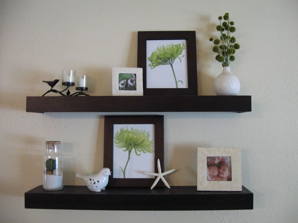 Best And Newest Decorations : Astonishing Brown Wooden Floating Wall Shelves With Regard To Wooden Wall Shelves (View 10 of 15)