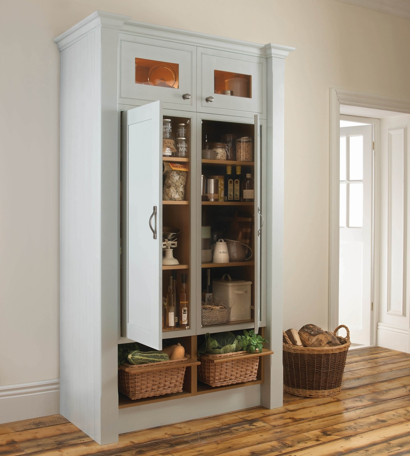 Best And Newest Design: Fascinating Standalone Pantry With Attractive Cupboards Throughout Free Cupboards (View 5 of 15)