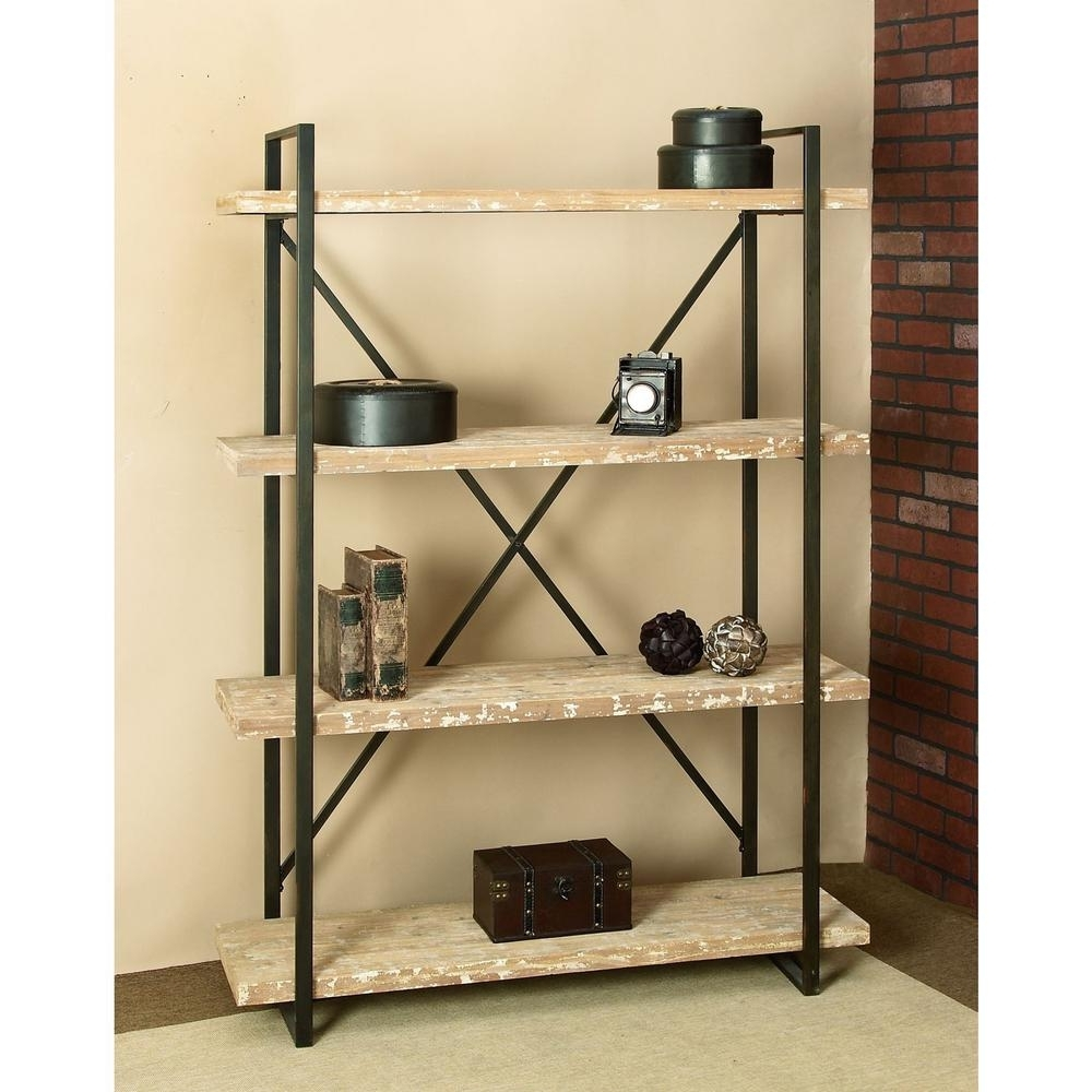 Best And Newest Distressed Wood Bookcases Regarding Metal And Woodcases Made In Americacase Design Ideas Reclaimed (View 1 of 15)