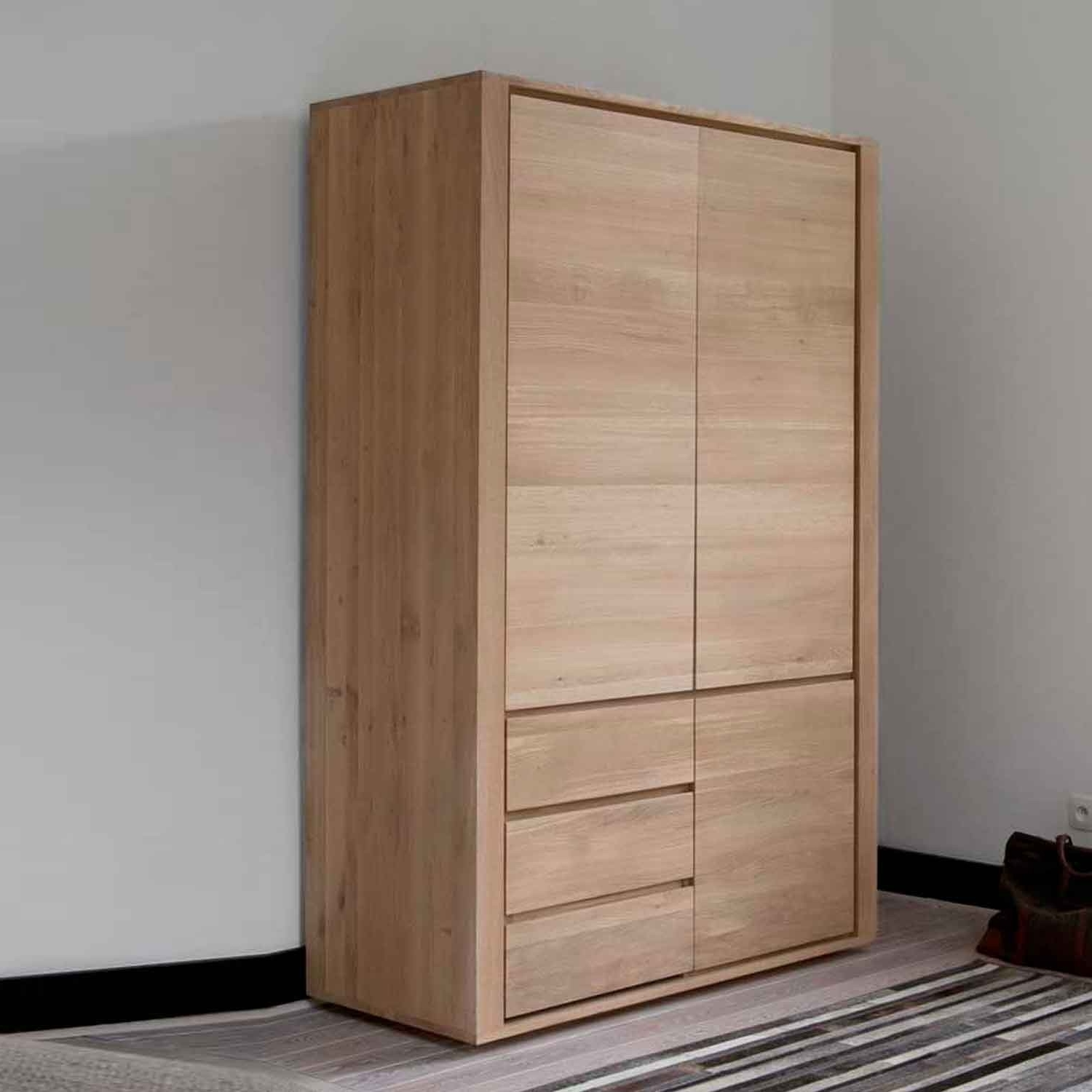 Best And Newest Excellent Brown Wood Laminated Sliding Door Wardrobe Design Throughout Solid Wood Built In Wardrobes (View 2 of 15)