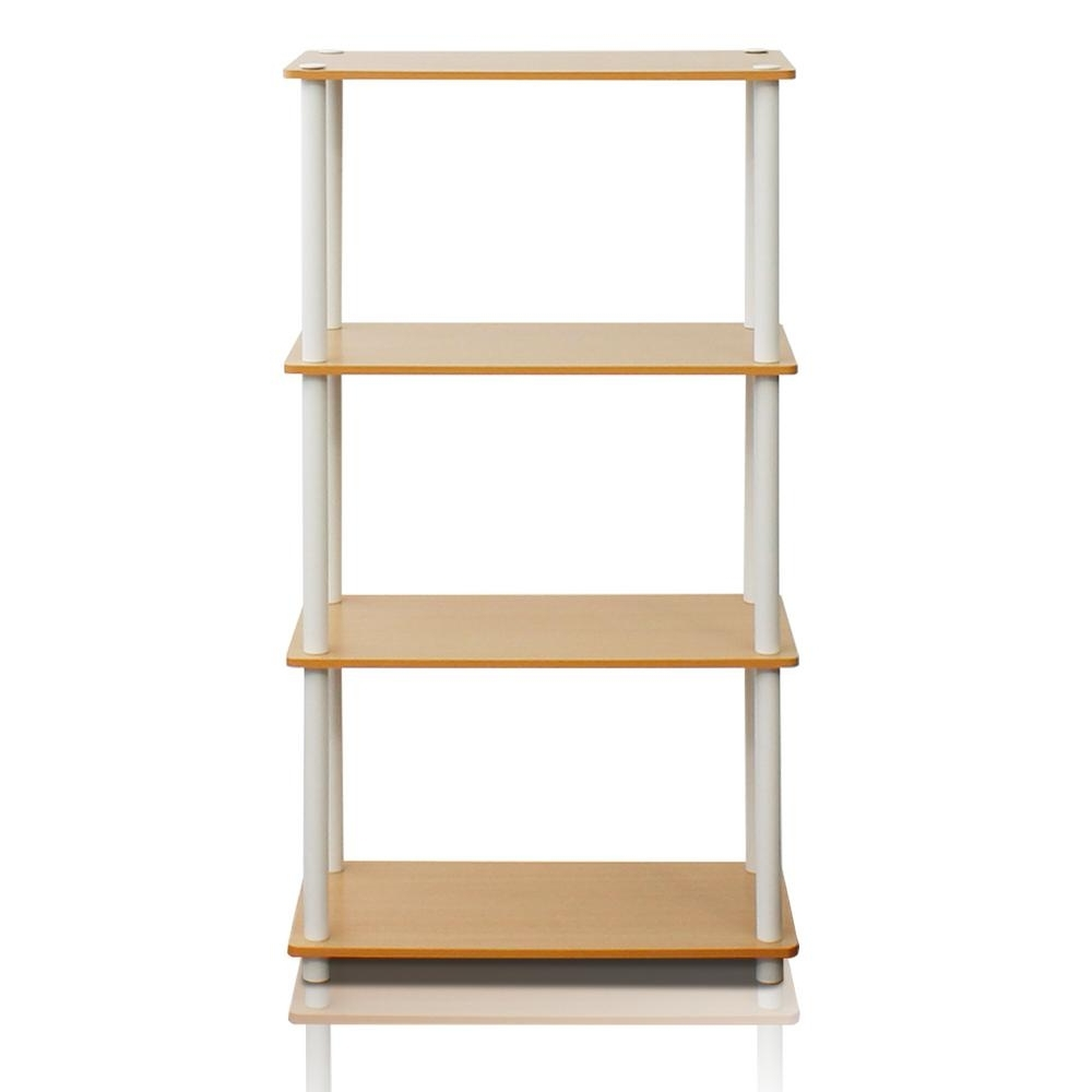 Best And Newest Furinno Turn N Tube Beech Open Bookcase 99557be/wh – The Home Depot Within Beech Bookcases (View 12 of 15)