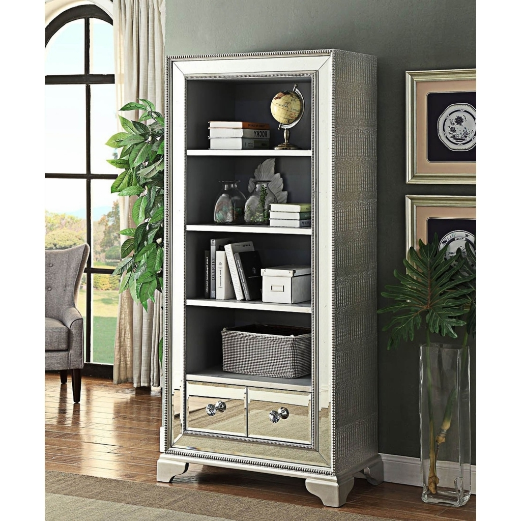 Best And Newest Furniture: Mirrored Bookcase Luxury Bookcase With Doors And Within Mirrored Bookcases (View 2 of 15)
