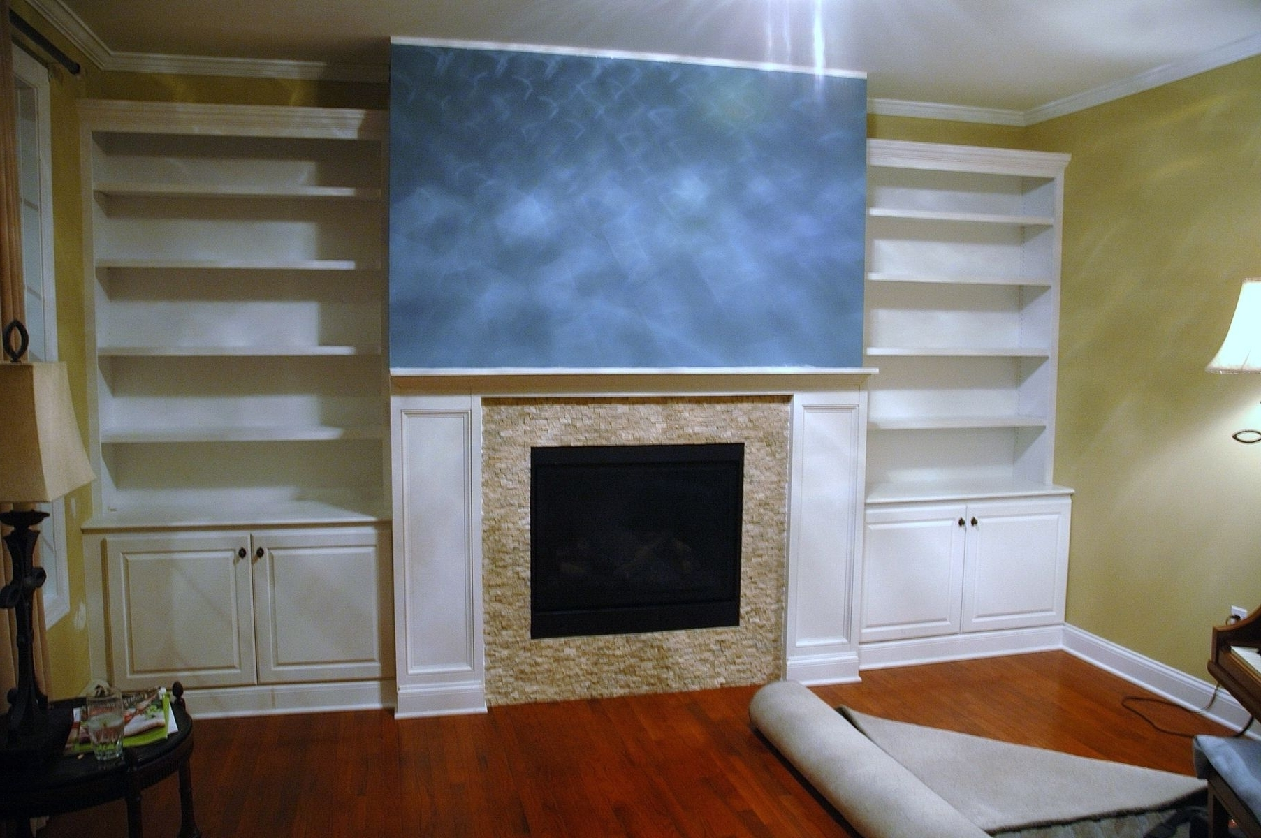Best And Newest Handmade Built In Bookcases, Base Cabinets And Fireplace Surround Throughout Bookcases With Cabinet Base (View 2 of 15)