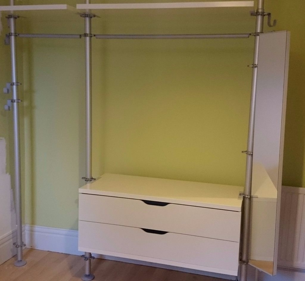 15 ideas of wardrobes drawers and shelves ikea - Ikea armoire with mirror ...