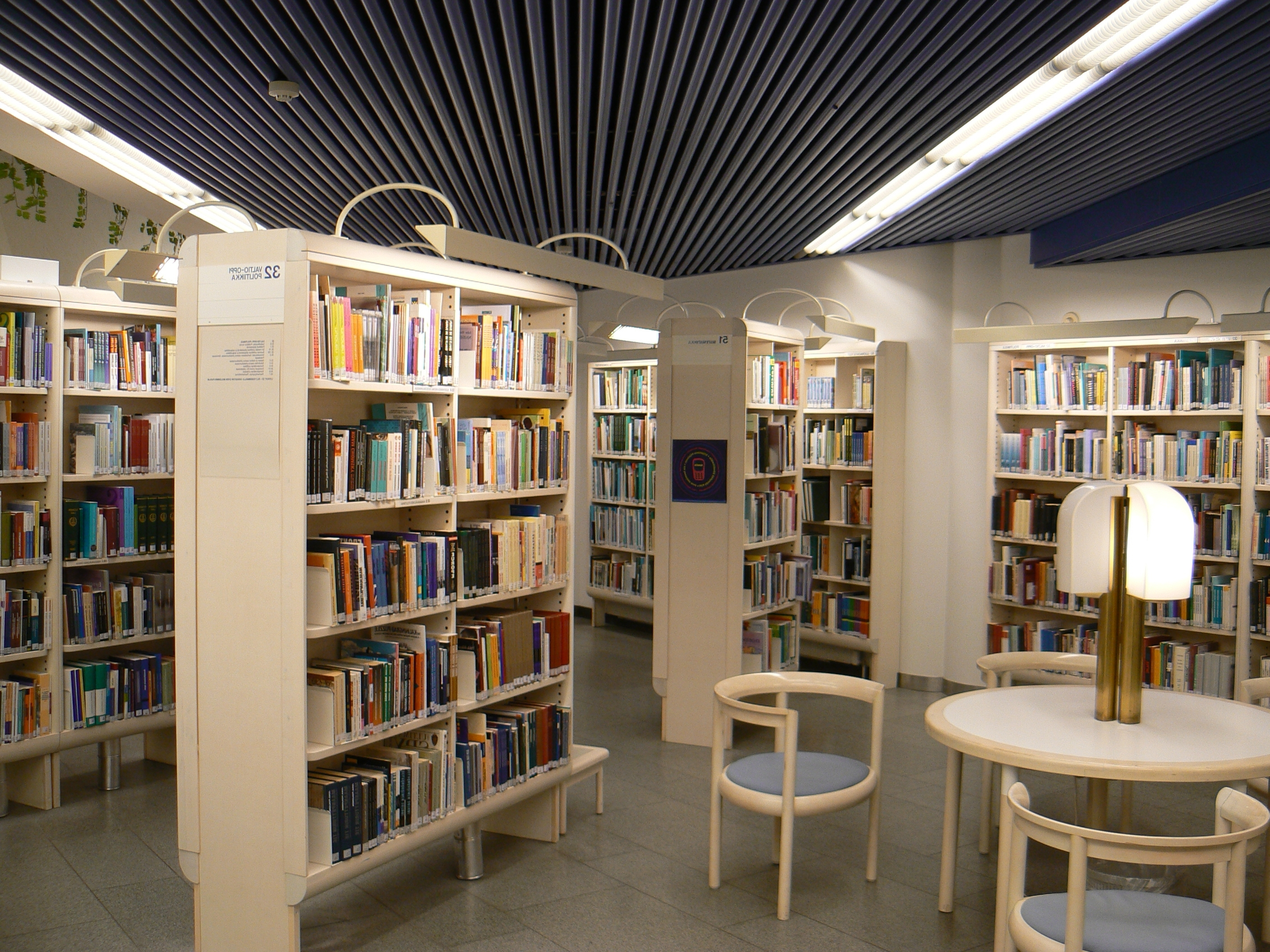 Best And Newest Library Shelfs In File:tampere Library Shelves – Wikimedia Commons (View 8 of 15)