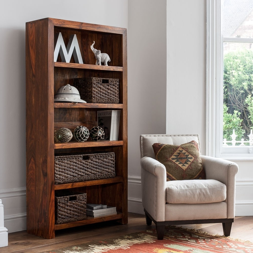 Best And Newest Mandir Sheesham Tall Bookcase (View 4 of 15)