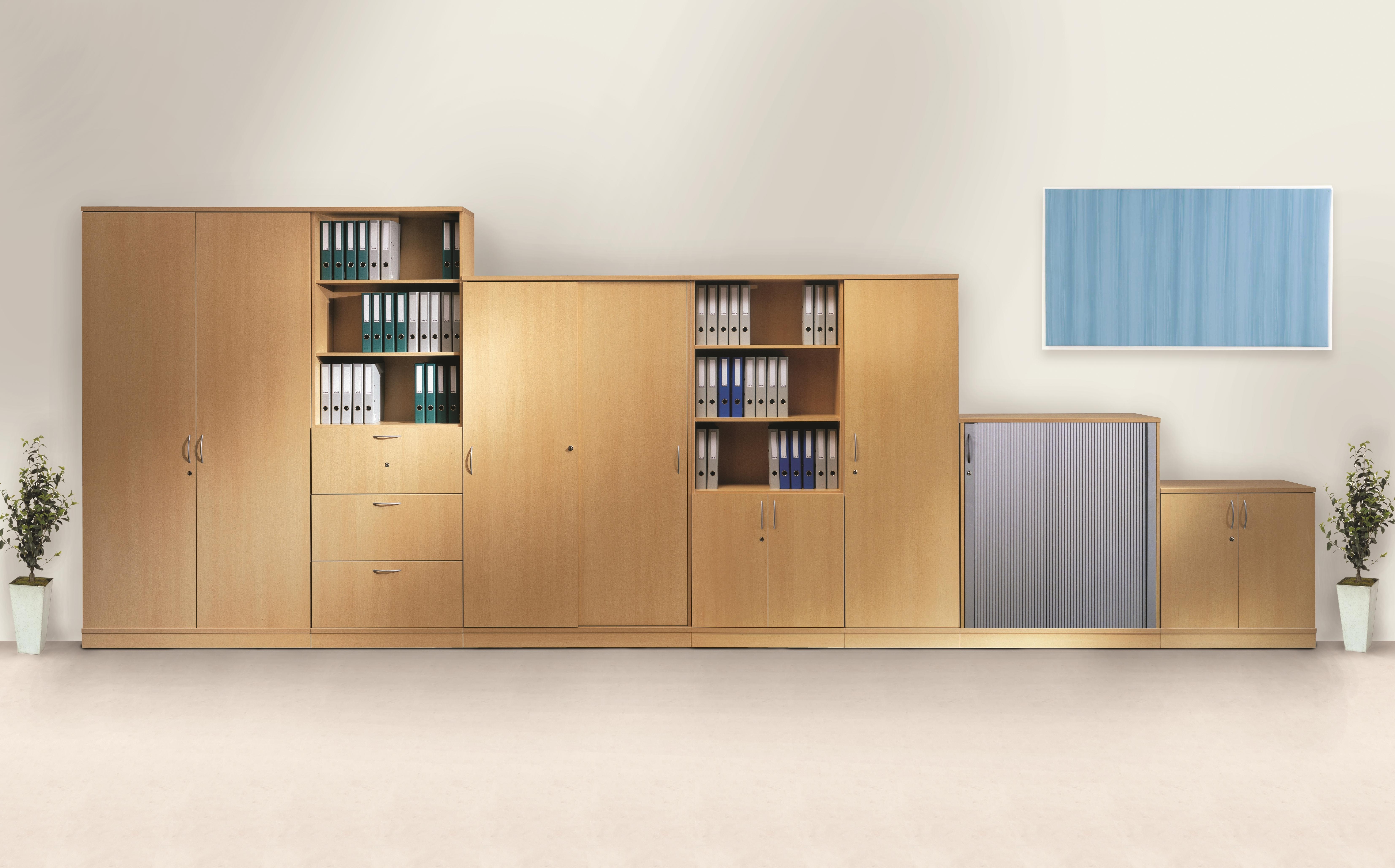 Best And Newest Office Wall Cupboards Throughout Office Storage System Wall Cupboards Huge Range Tall To Low Free Space (View 2 of 15)
