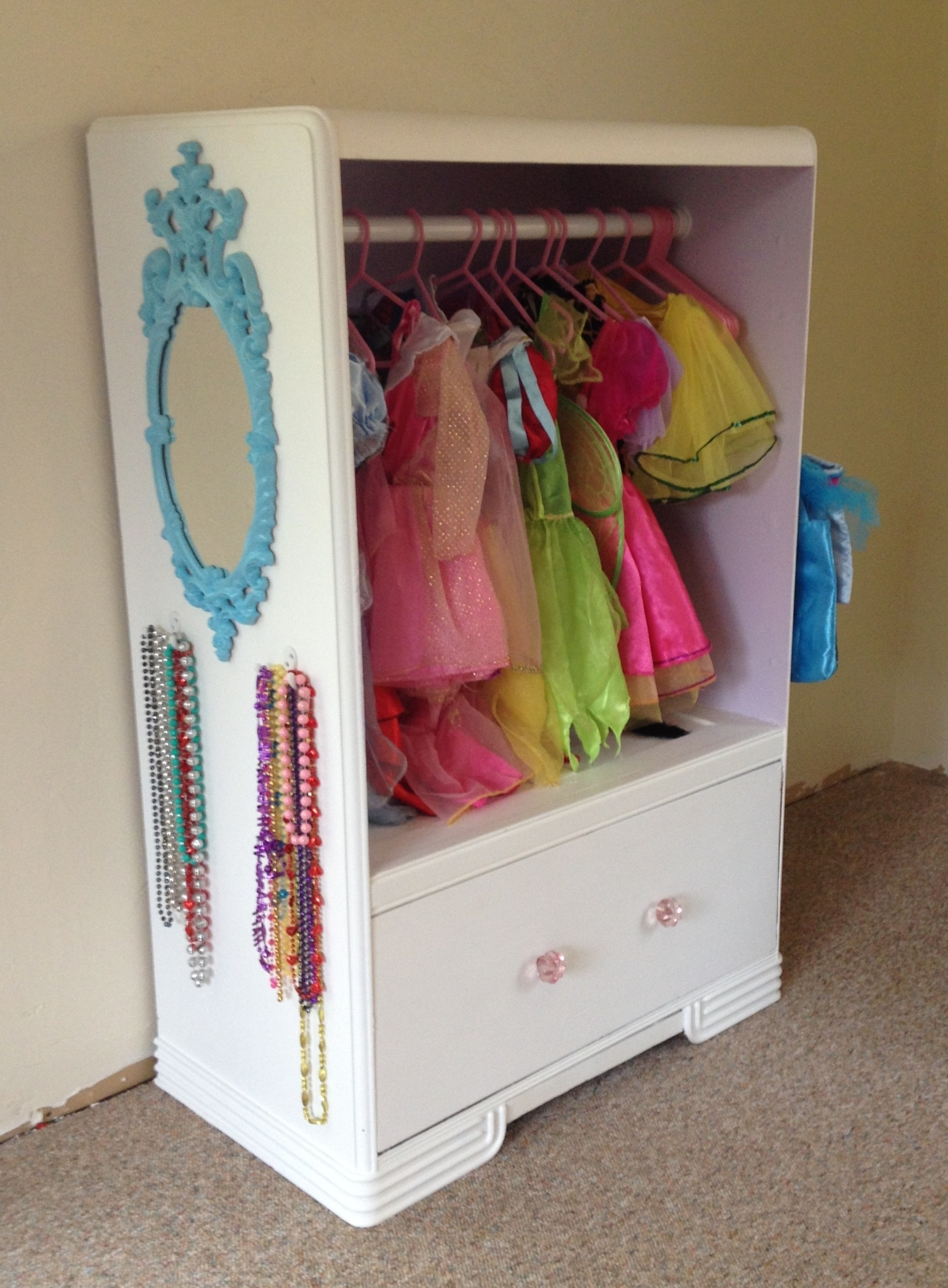 Best And Newest Old Dresser Turned Into A Dress Up Closet! (View 3 of 15)