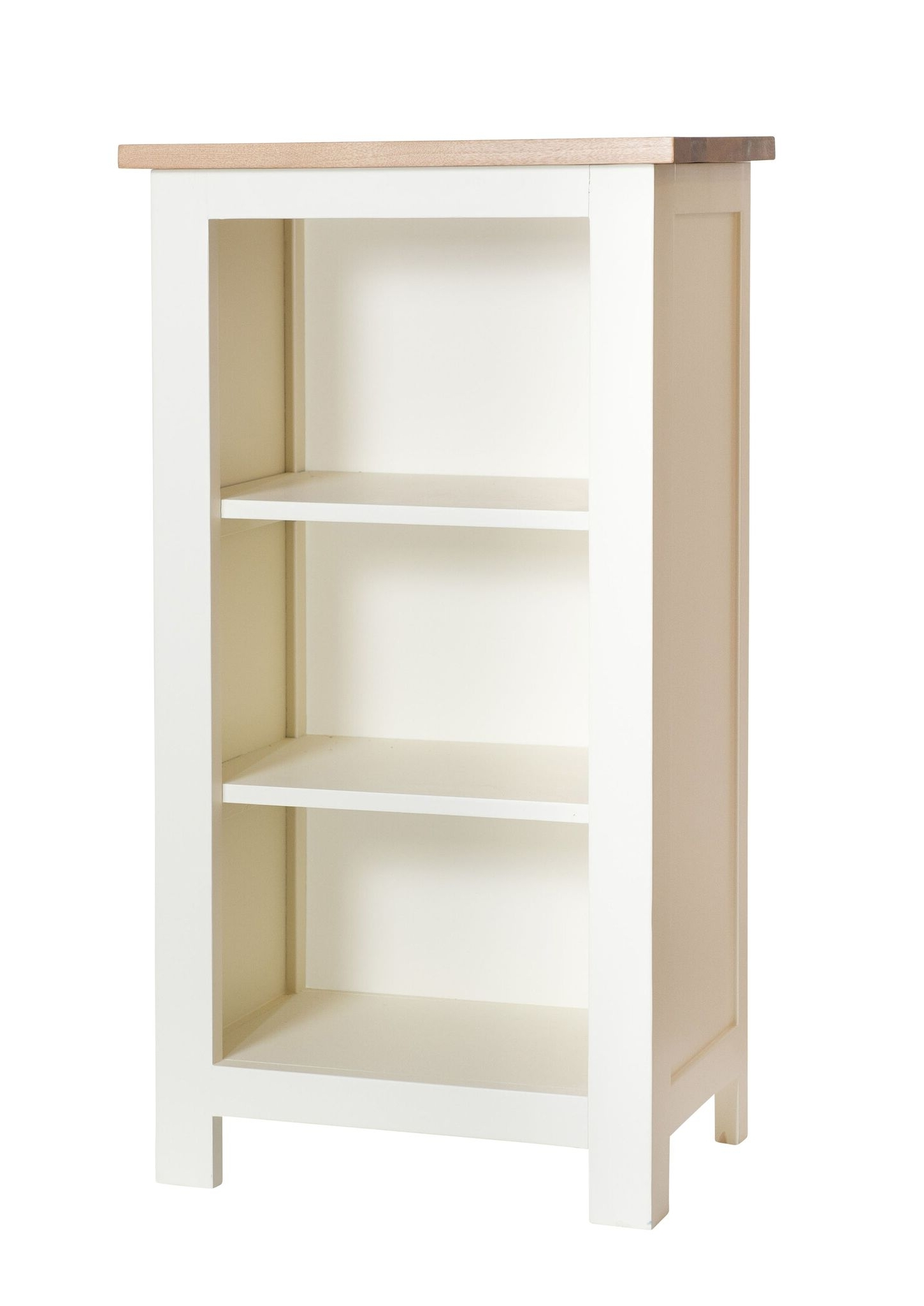 Best And Newest Painted Oak Bookcases Throughout So – Cream Painted Oak Top Small Bookcase – Country Furniture Barn (View 2 of 15)