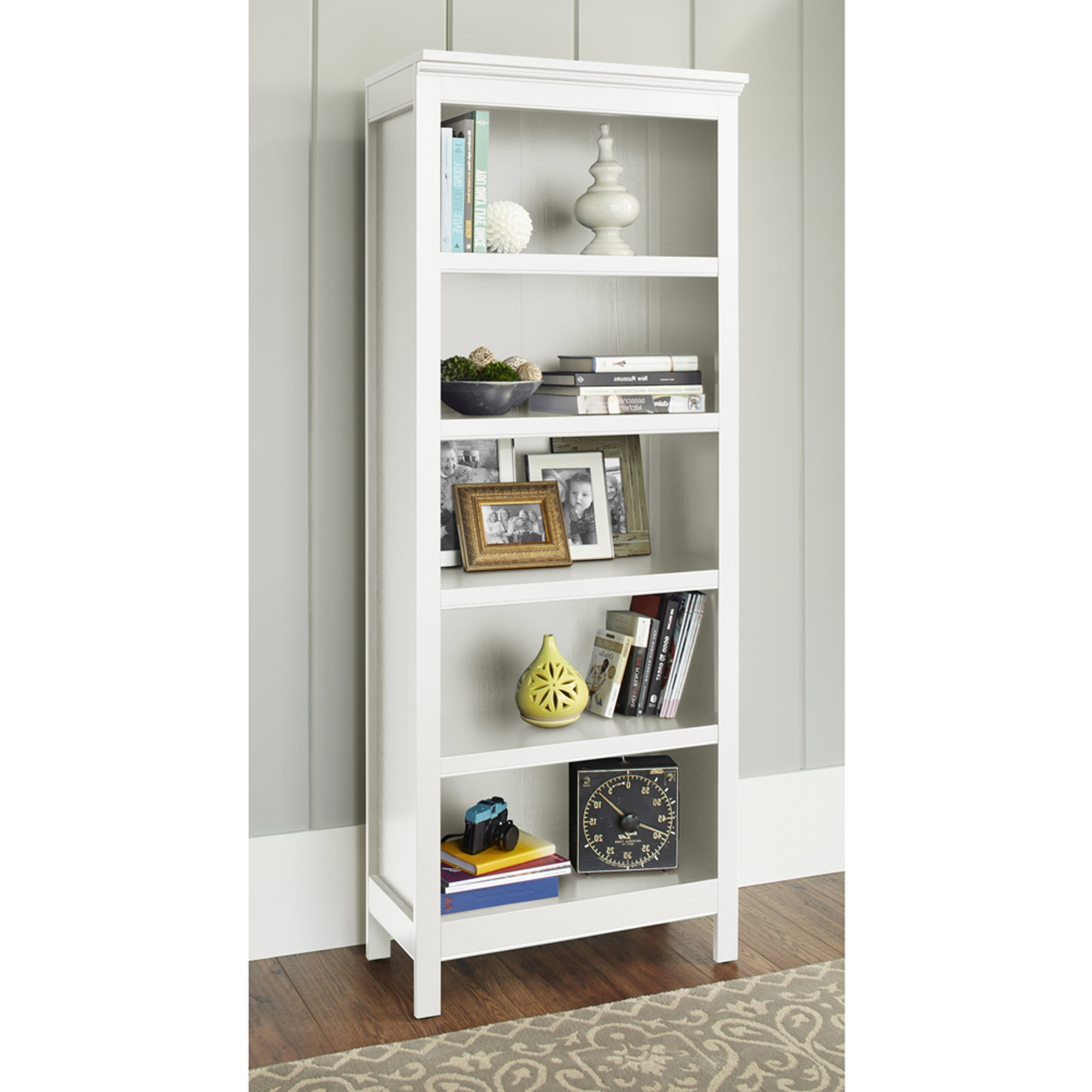 Featured Photo of White 5 Shelf Bookcases